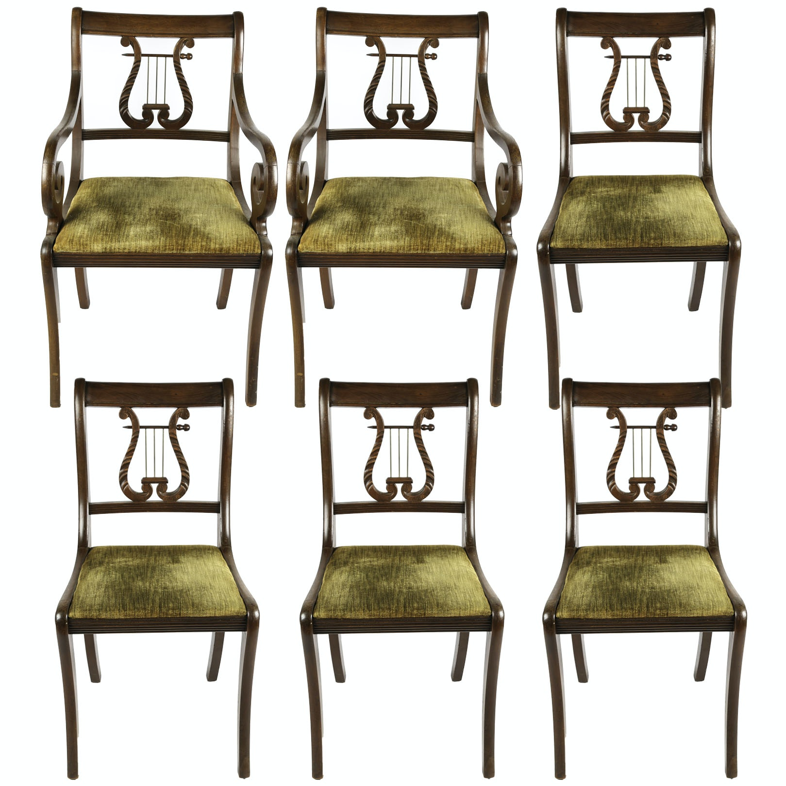 Antique Lyre Back Chairs