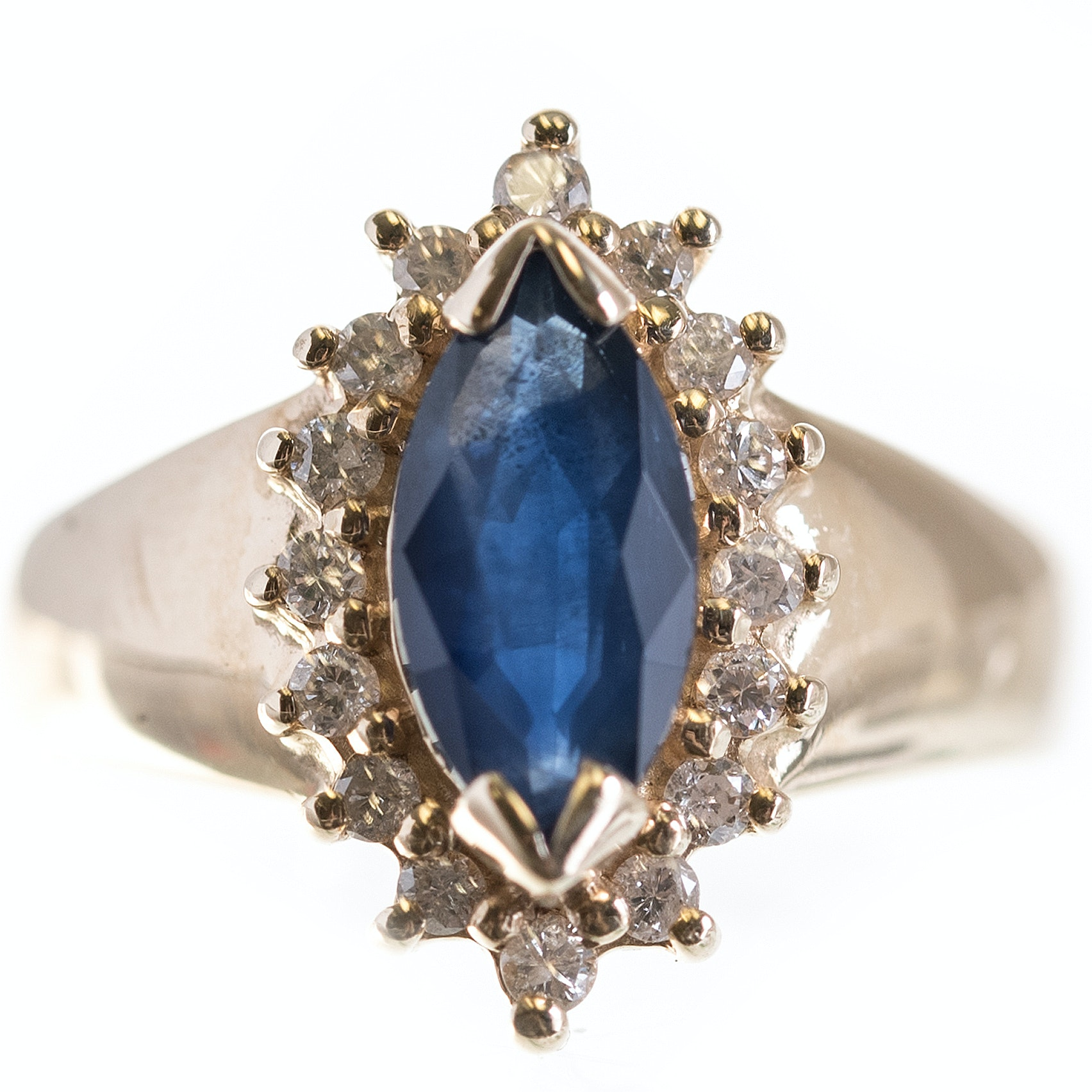 EFFY 14K Yellow Gold Sapphire and Diamond Ring