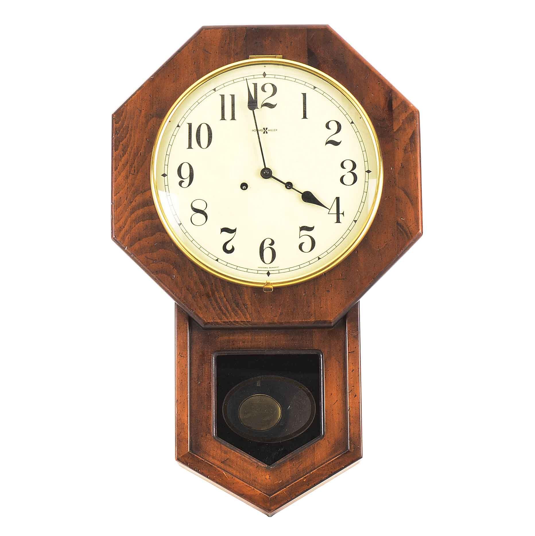 Vintage Howard Miller Regulator Wall Clock Ebth