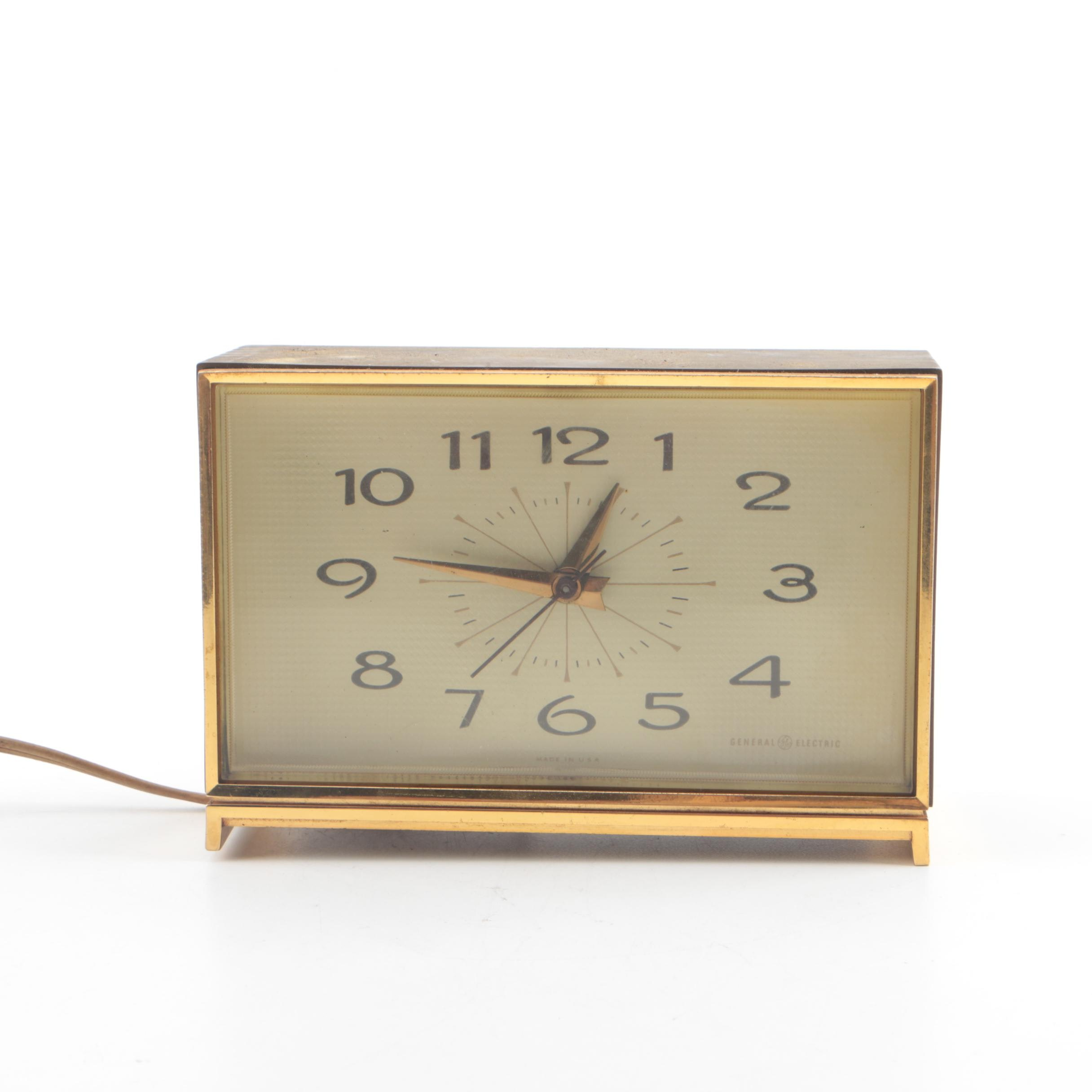 1970s General Electric Mid-Century Style Alarm Clock