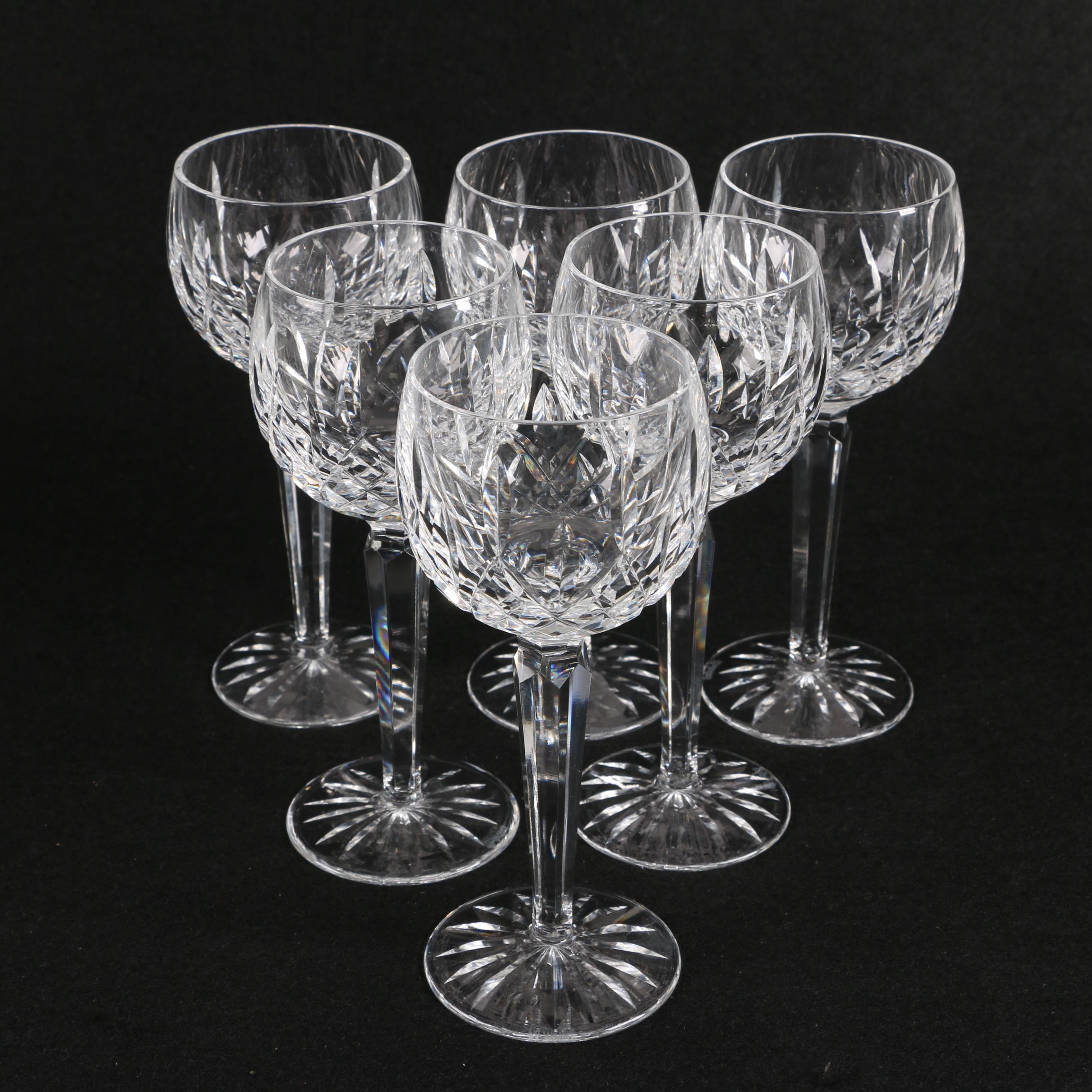 """Waterford """"Lismore"""" Wine Hocks"""
