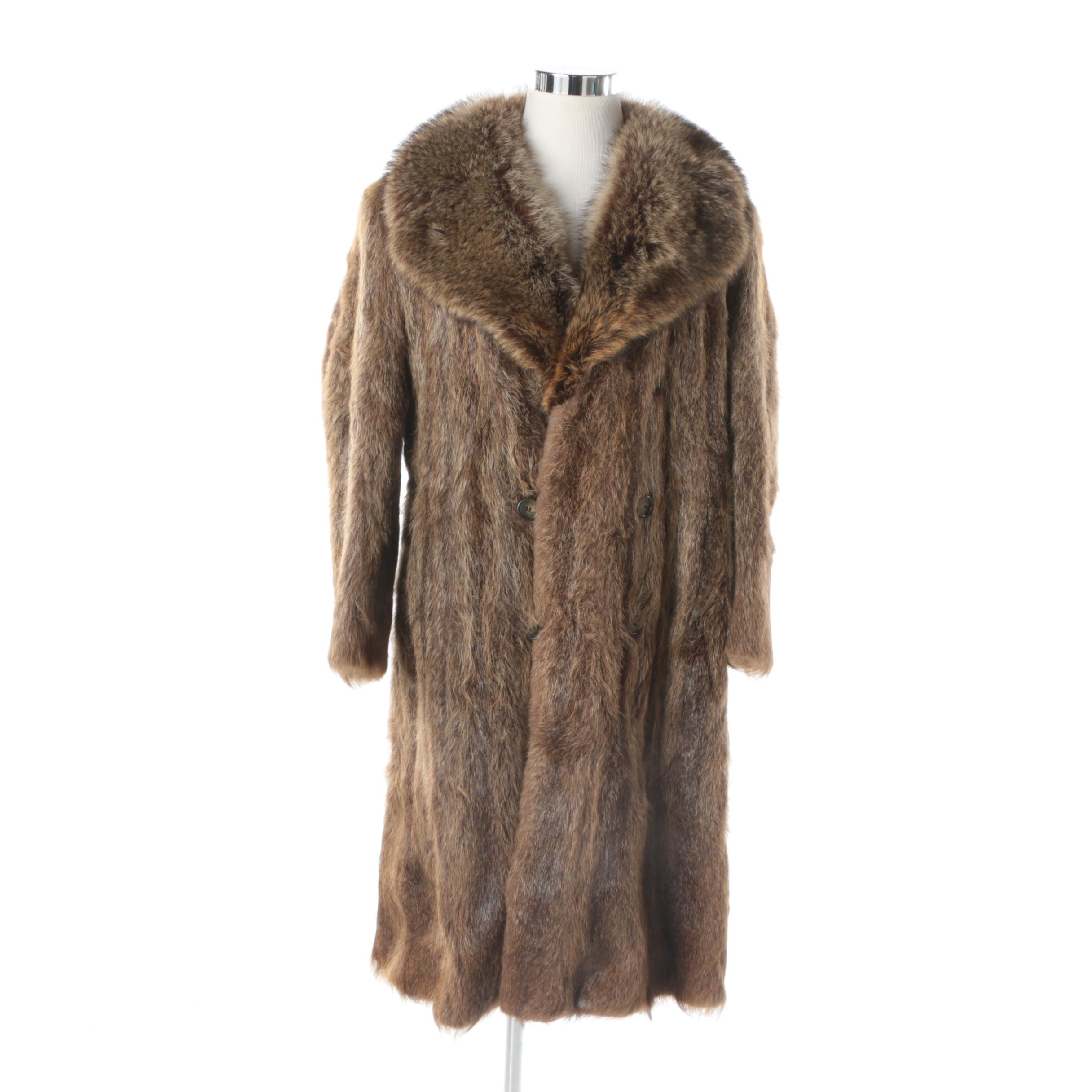 Men's Vintage Blum's Vogue Chicago Raccoon Fur Coat