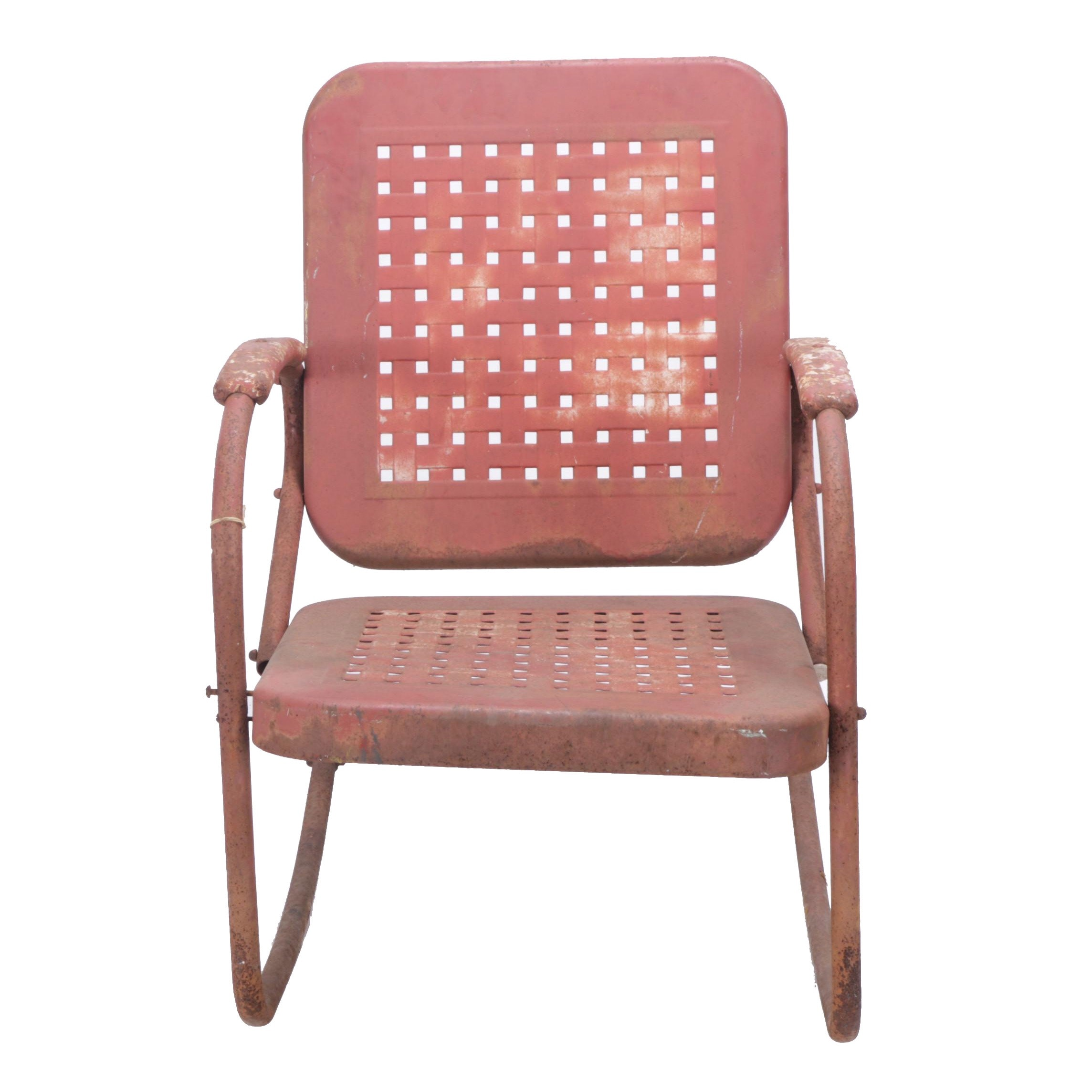 Vintage Outdoor Metal Rocking Chair