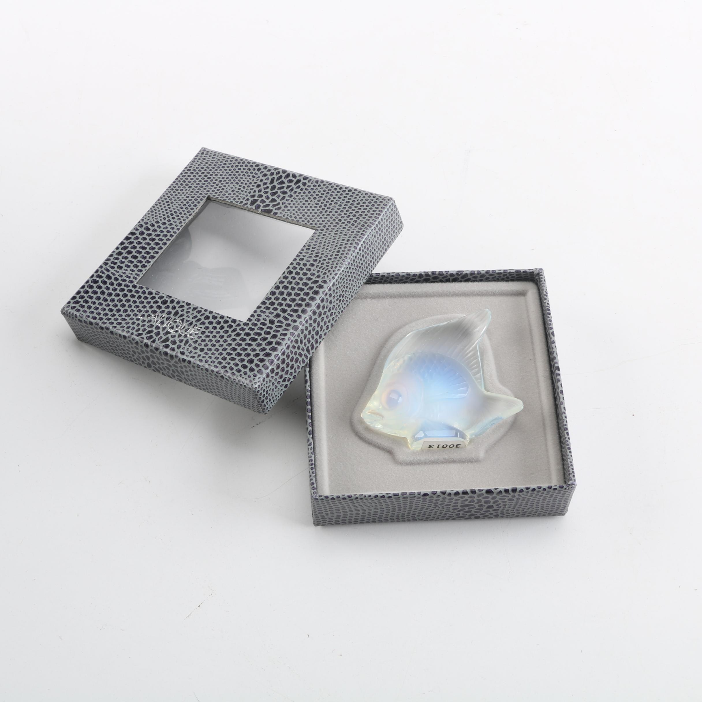 "Lalique Crystal ""Seal Fish"" Crystal Figurine"