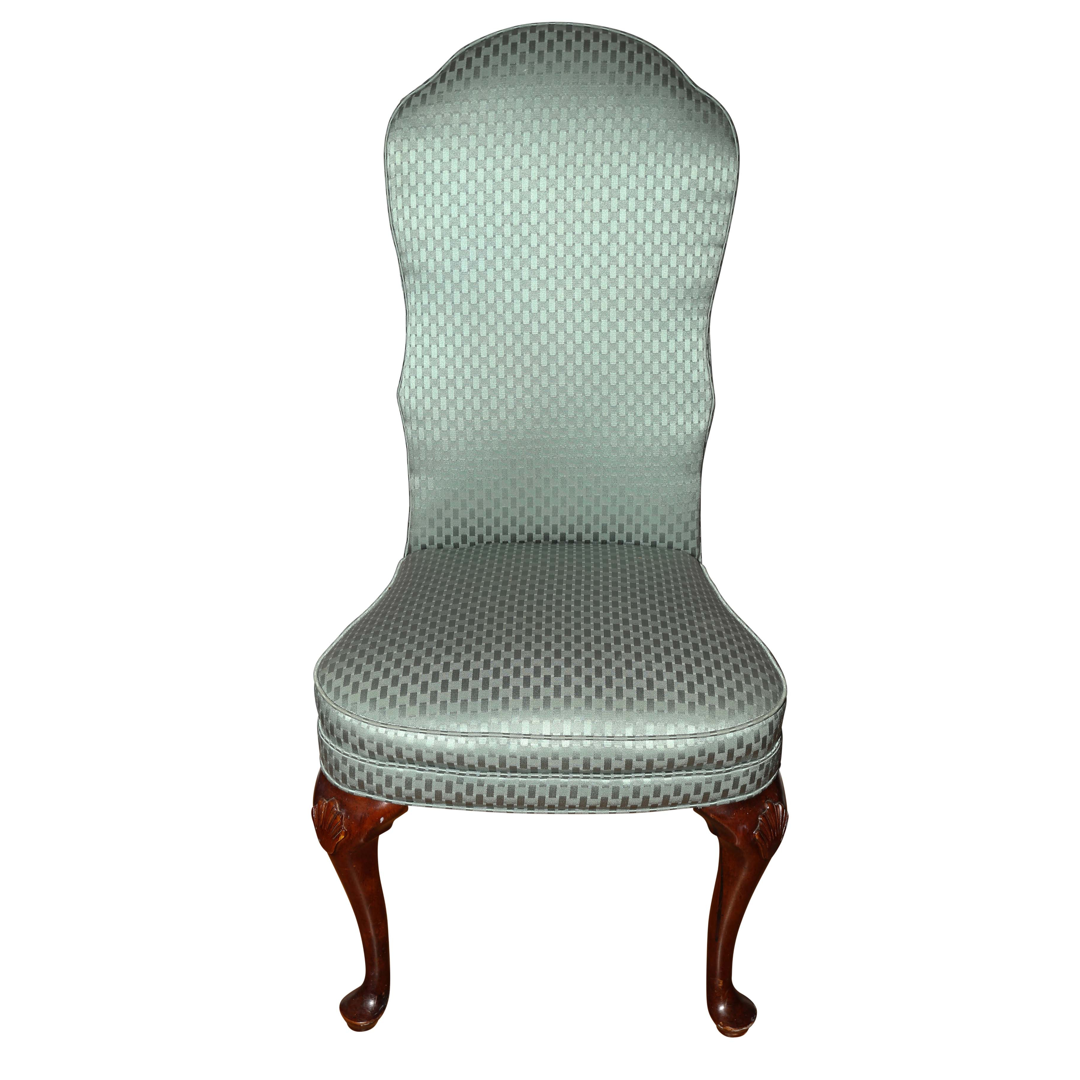 Upholstered Queen Anne Style Dining Chair