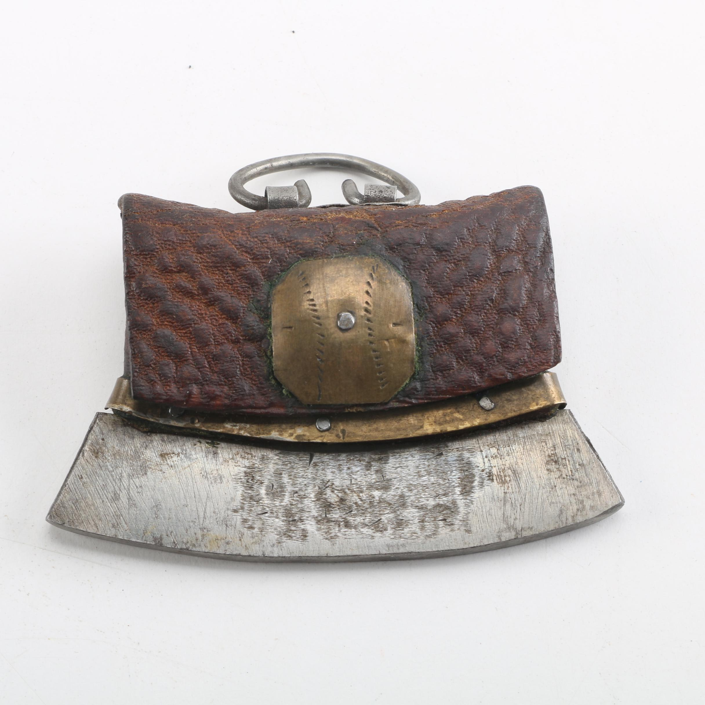 Antique Japanese Tobacco Pouch with Cutter