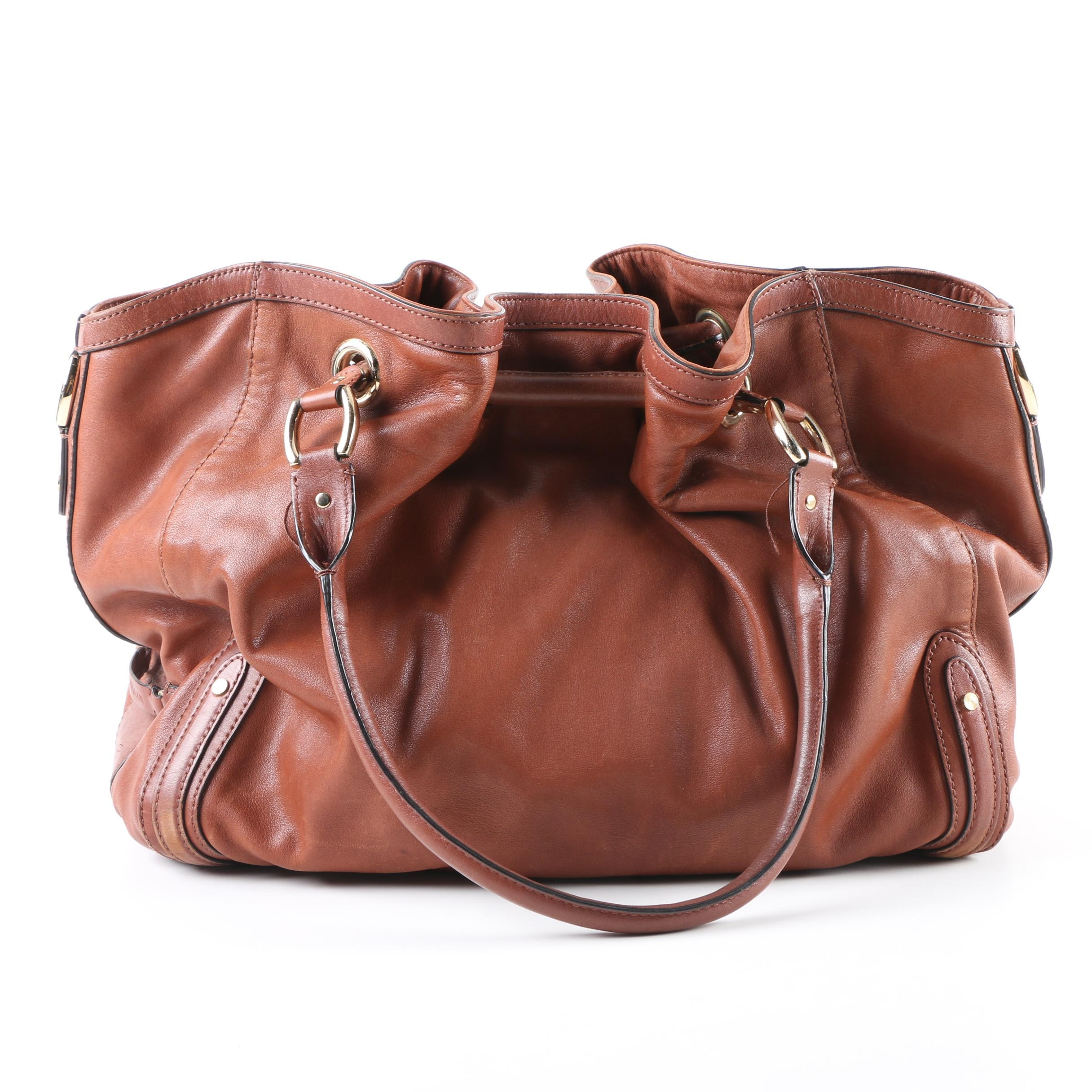 Cole Haan Paige Brown Leather Hangbag