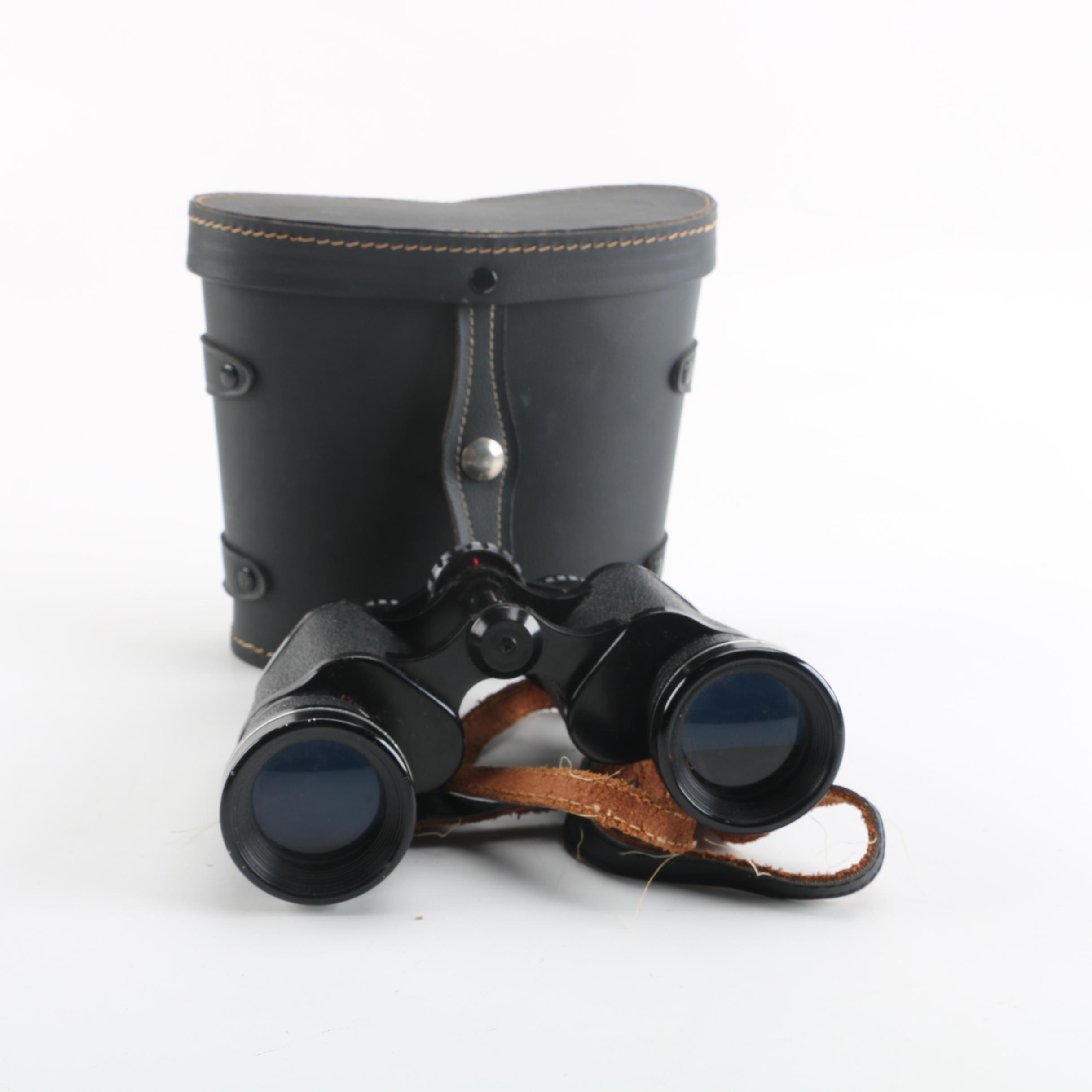 Vintage Lentar 7 x 35 Binoculars with Case