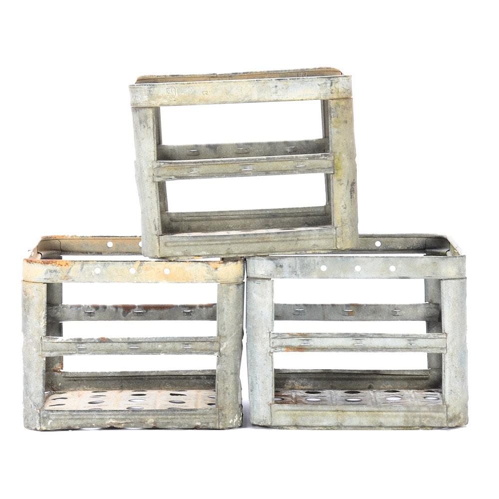 Three Metal Crates
