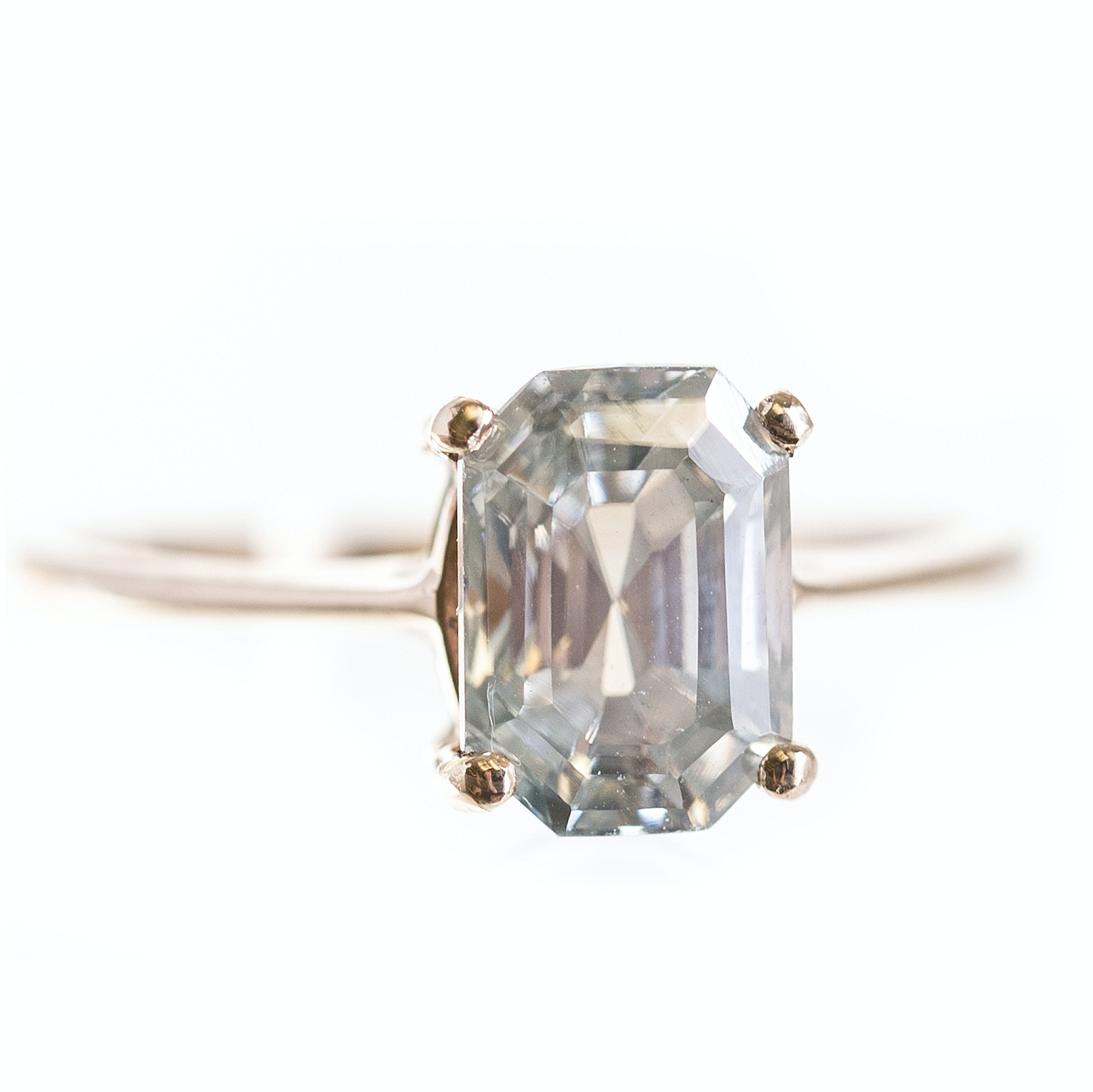 10K Yellow Gold Moissanite Ring
