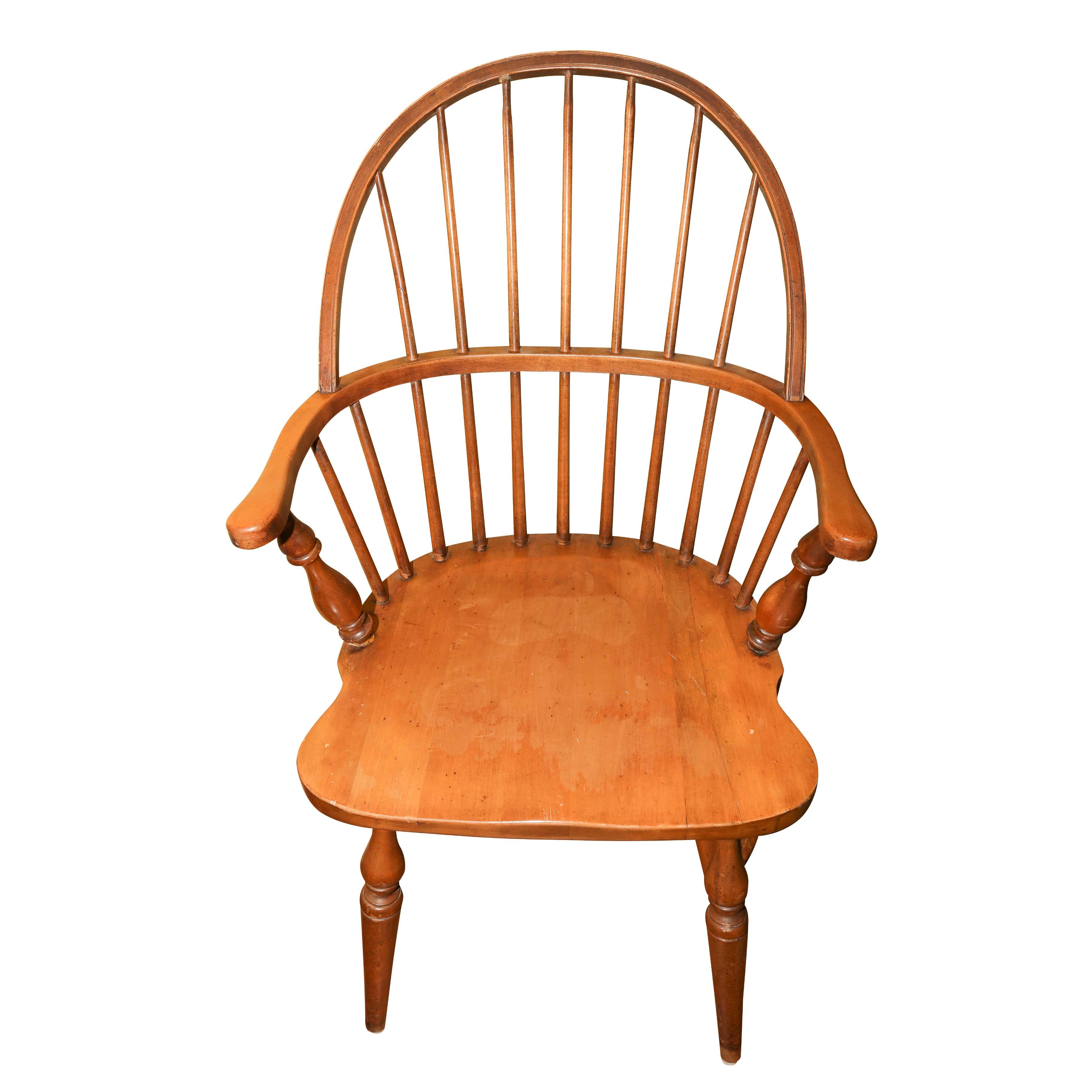 Vintage Windsor Style Barrel Back Armchair