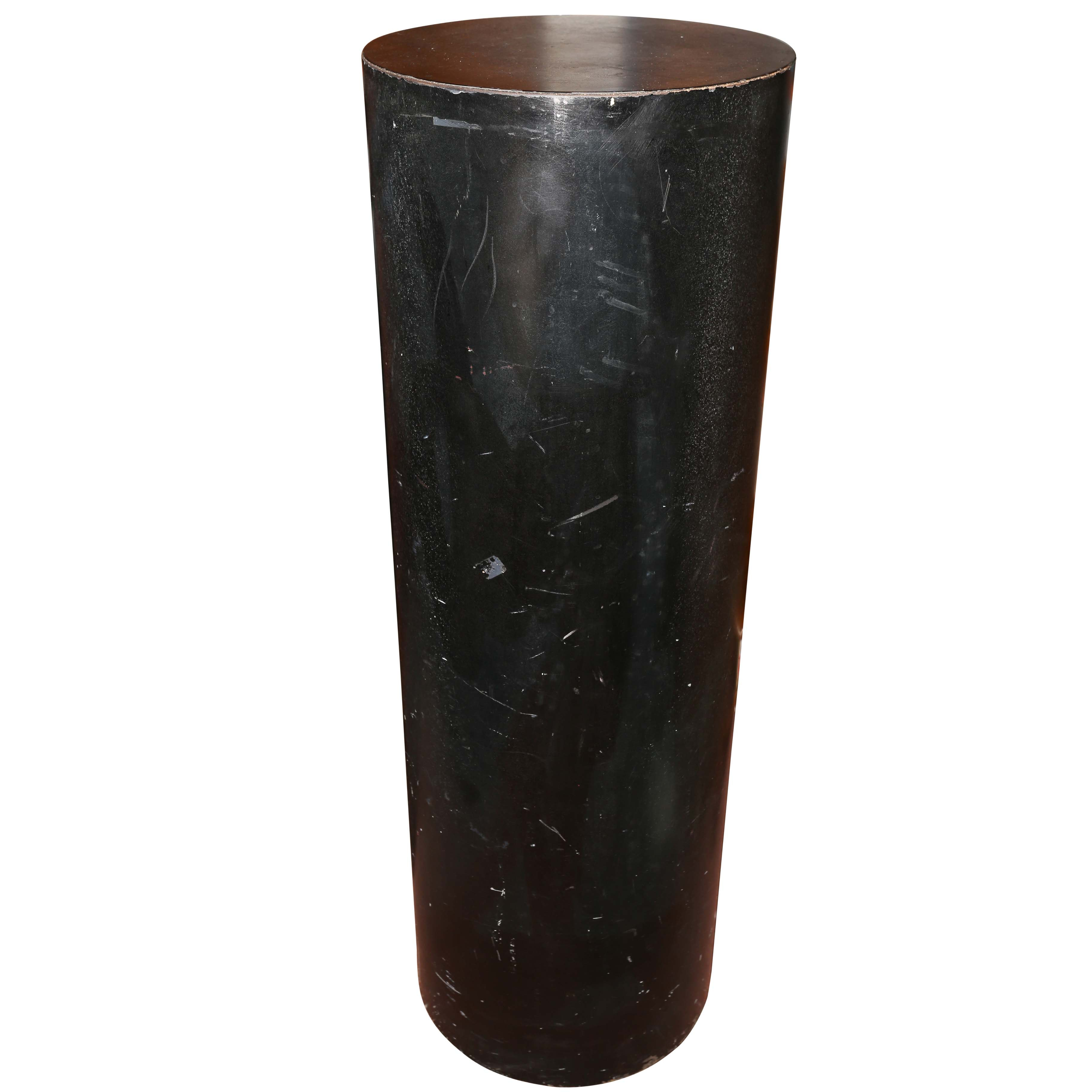 Black Painted Pedestal Stand