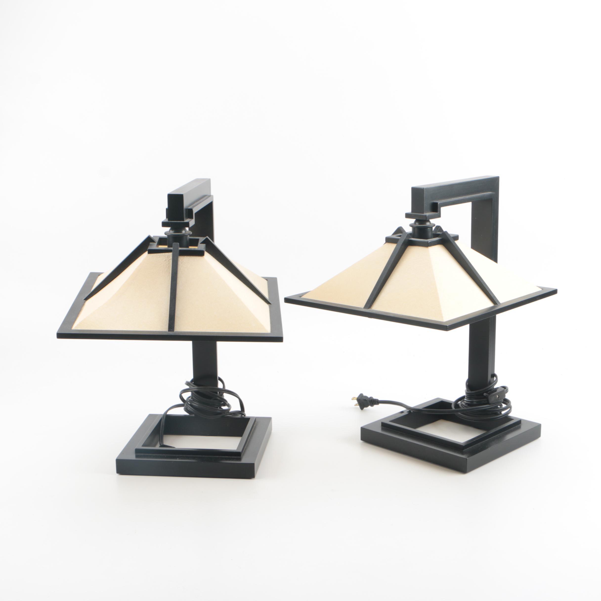 "Yamagiwa ""Taliesin"" Table Lamps After Frank Lloyd Wright"
