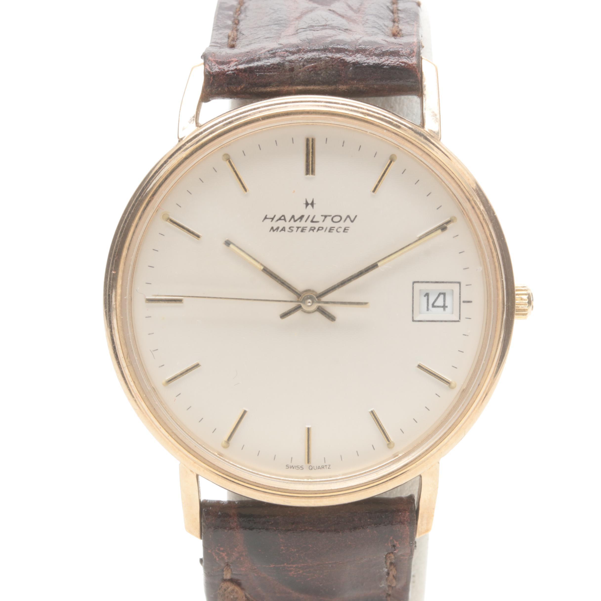 "Hamilton ""Masterpiece"" Gold Filled Wristwatch"