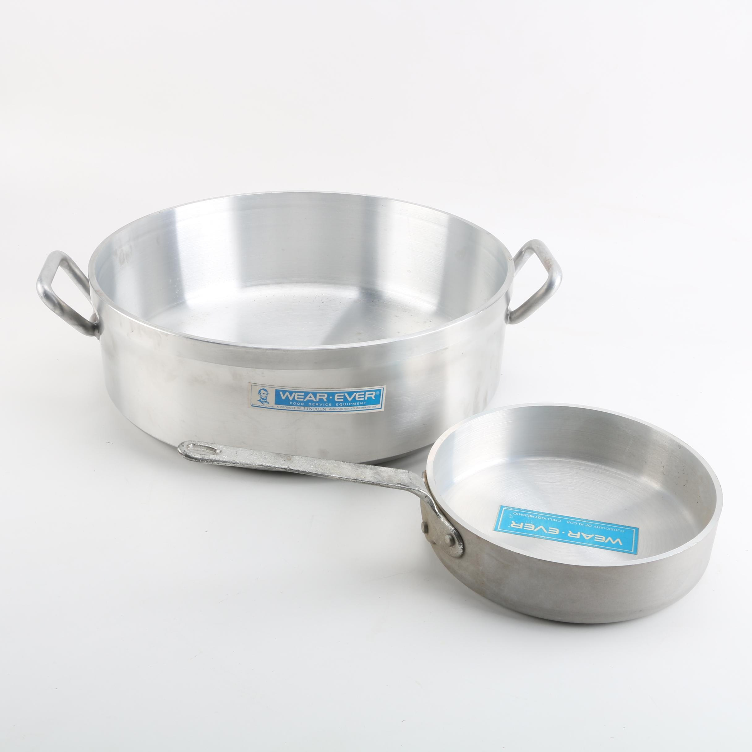 Wear-Ever Stainless Steel Cookware Including Twenty-Four Quart Pan