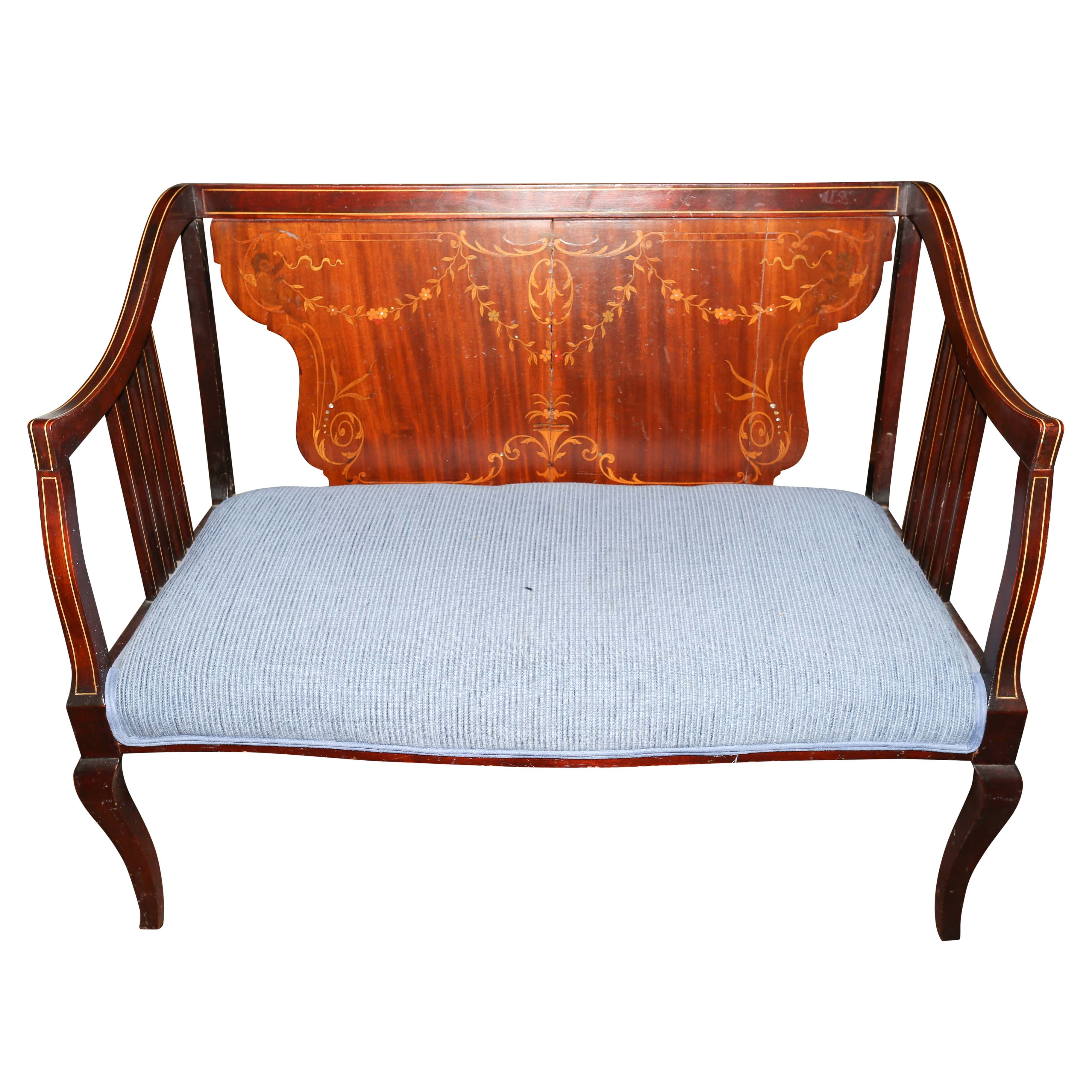 Antique Settee with Marquetry