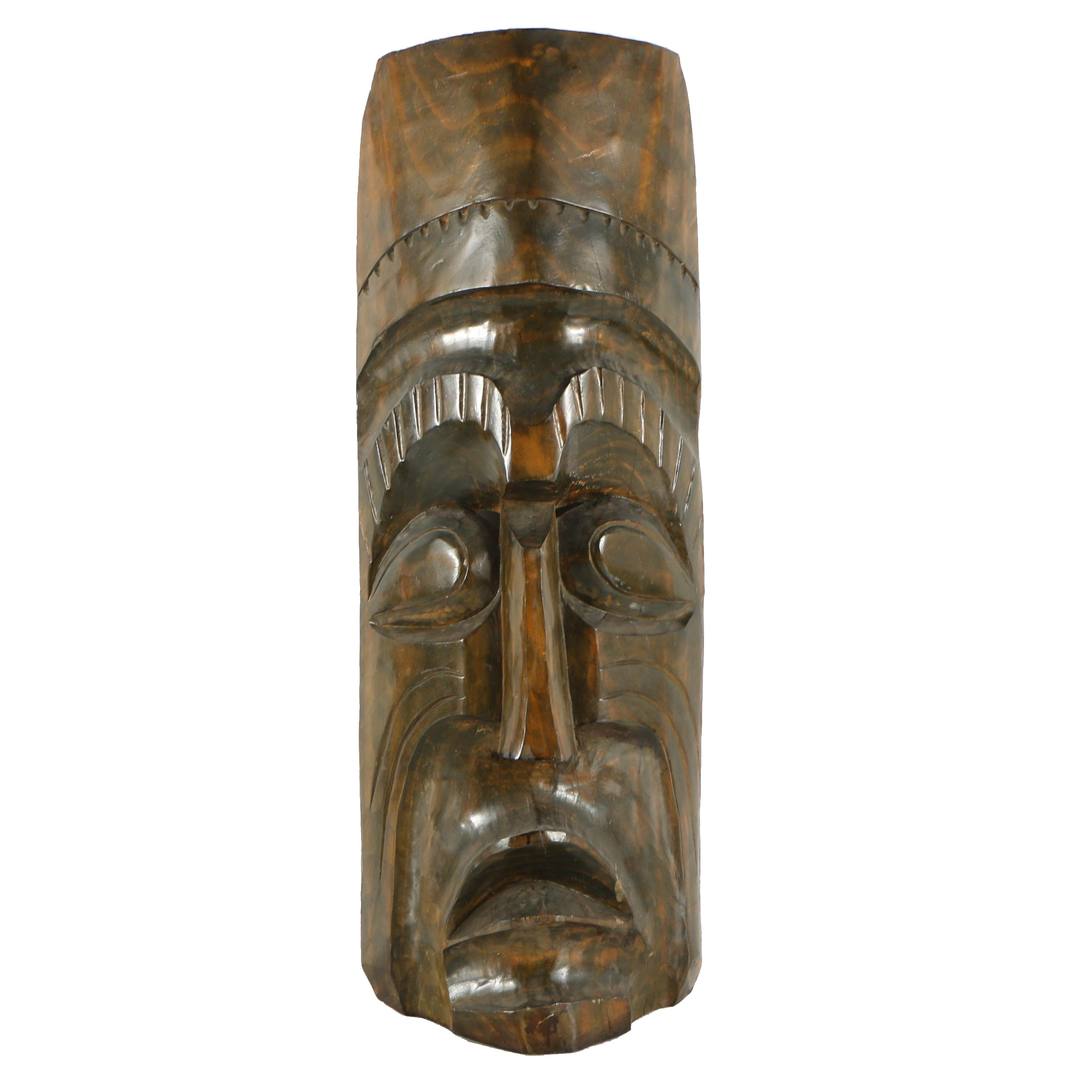 Pacific Islands Style Hand Carved Wood Mask