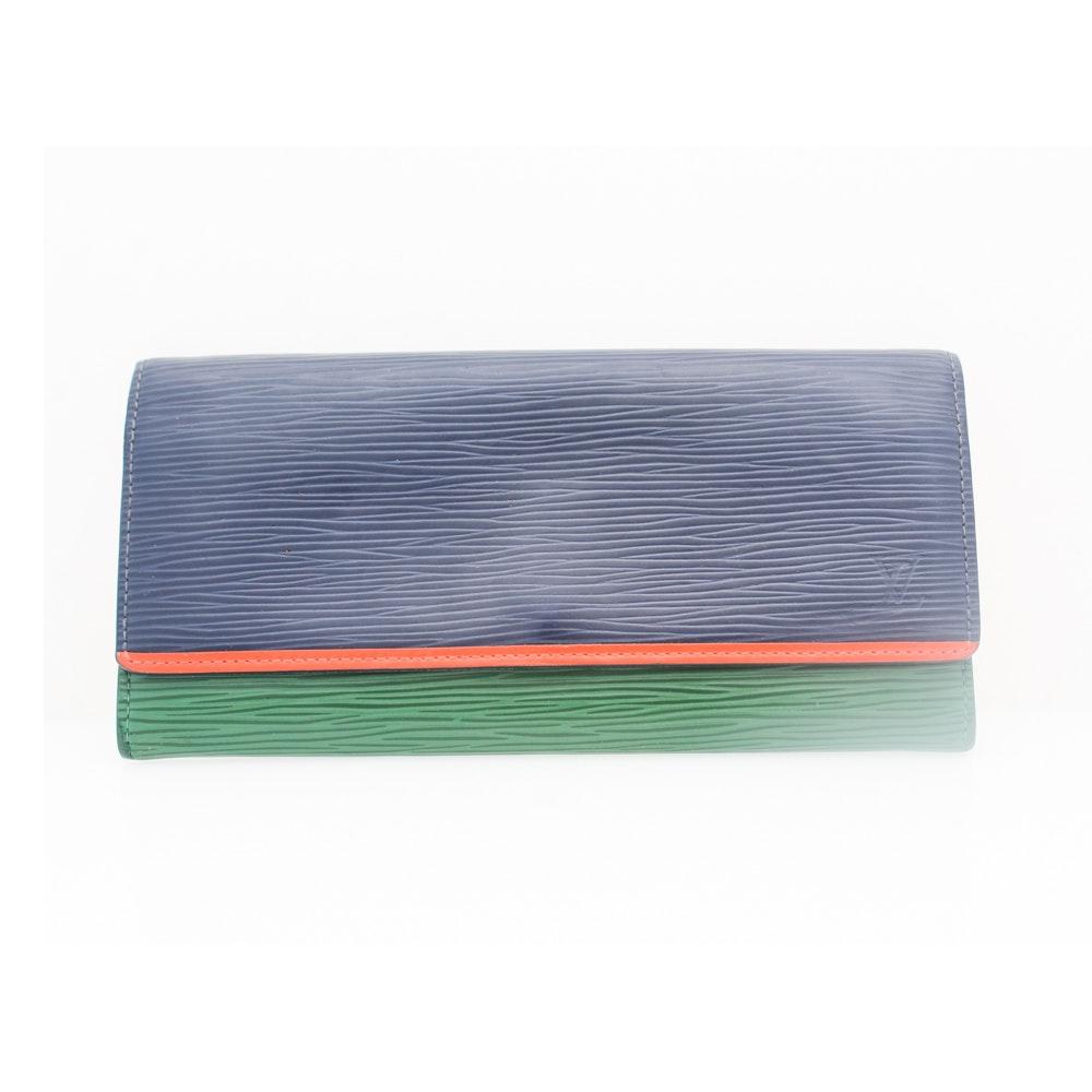 Louis Vuitton of Paris Tri-Color Flore Epi Leather Wallet