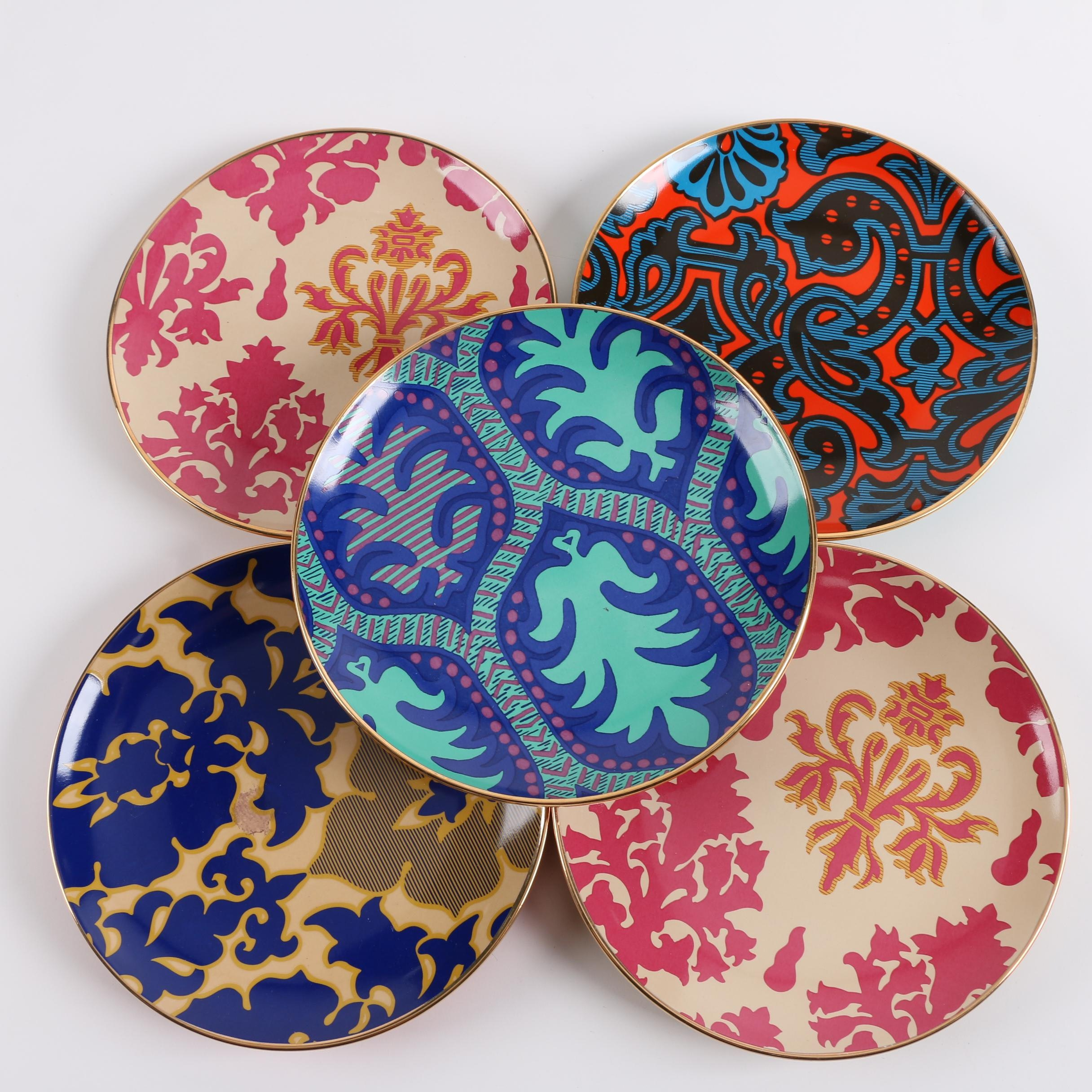 Tracy Reese Colorful Ceramic Dessert Plates