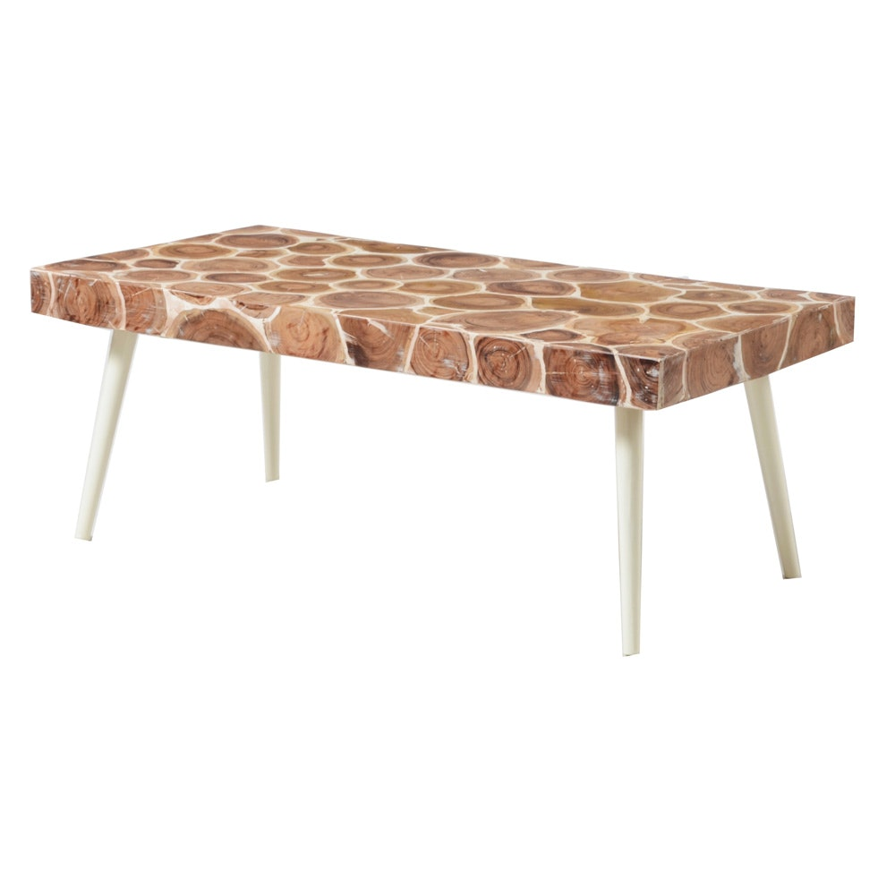 Wood Stump Mosaic Coffee Table
