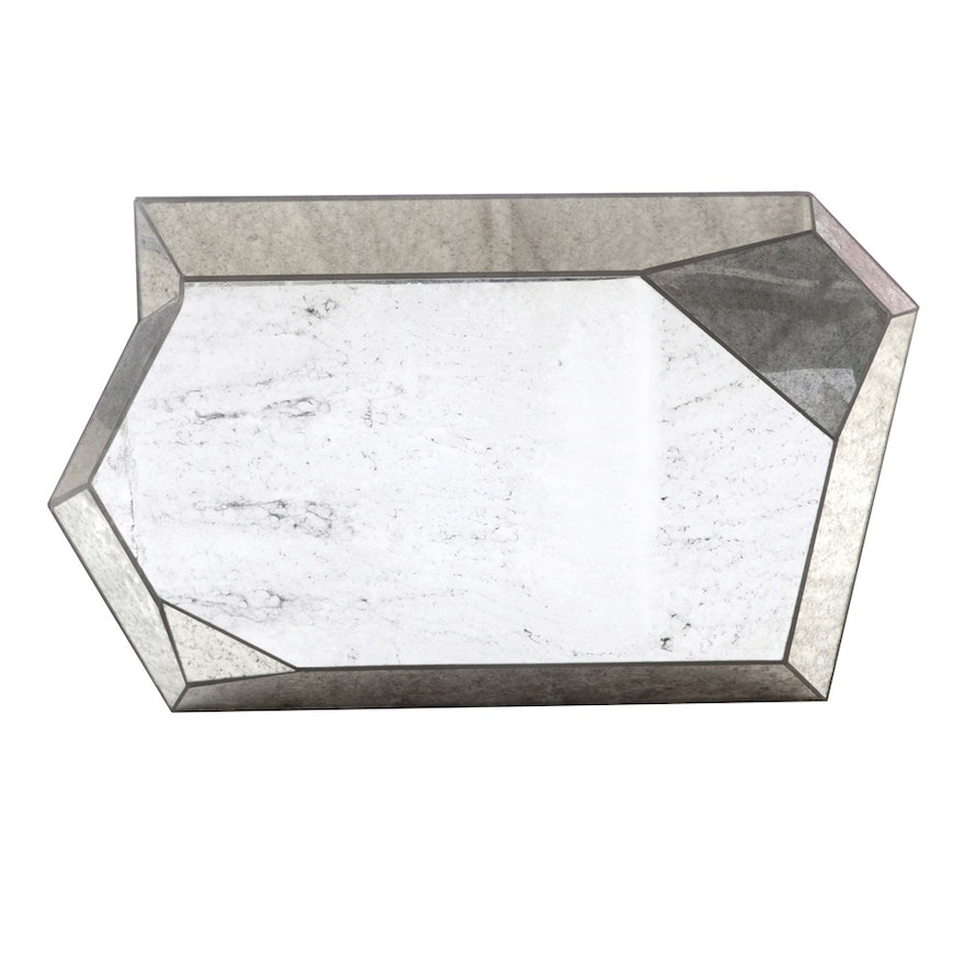 Decorative Faceted Wall Mirror Ebth