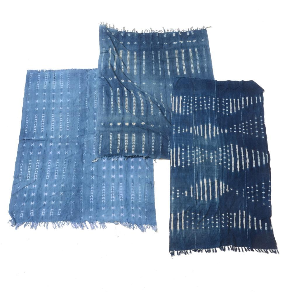 Three Batik Dyed Tablecloths