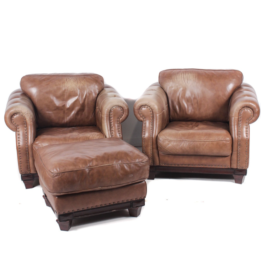 Contemporary Leather Arm Chairs