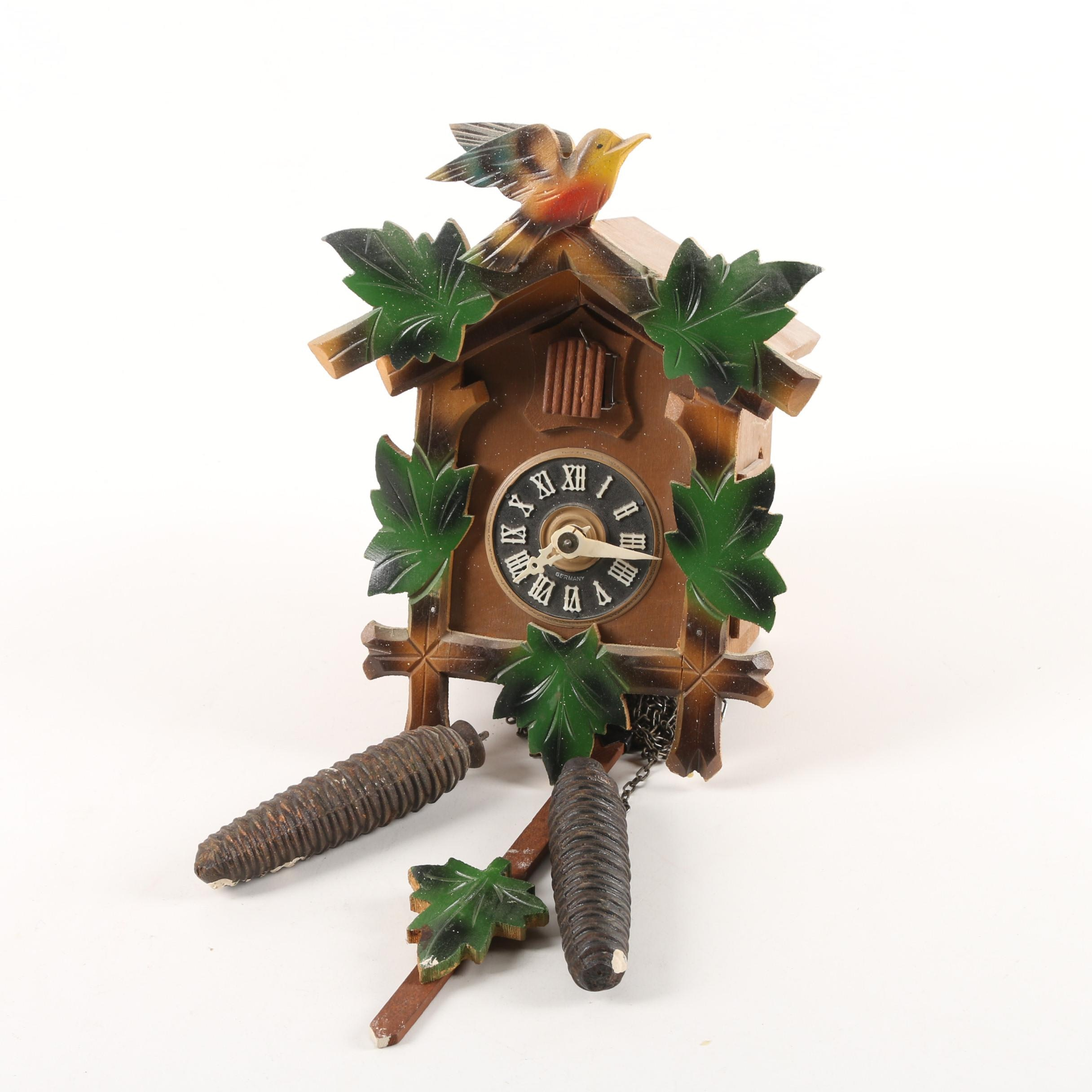 Vintage German Wood Cuckoo Clock