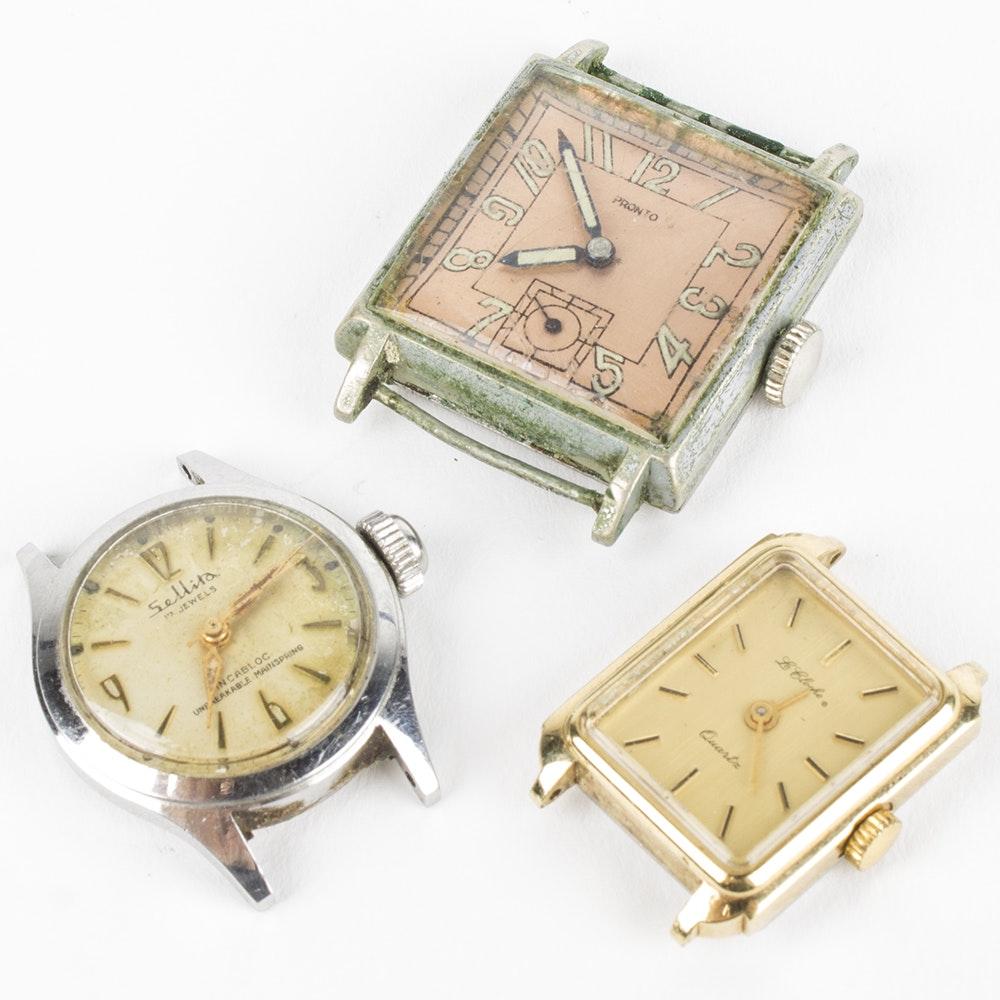 Pronto, Le Cloche, and Sellita Wristwatches