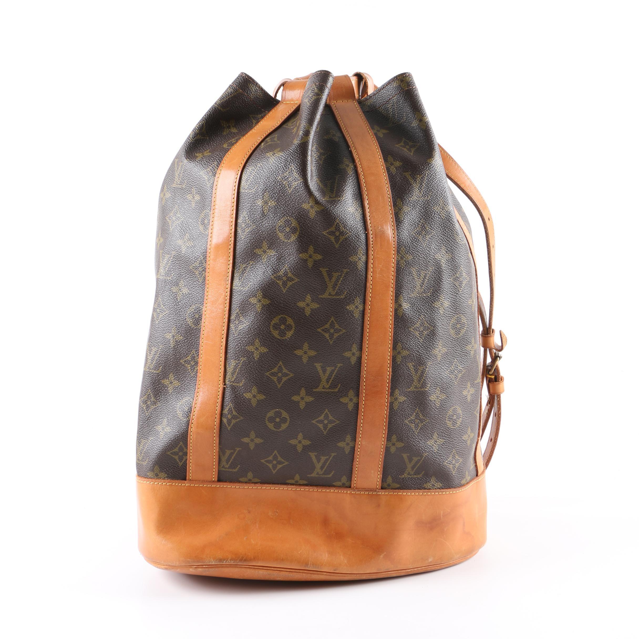 Vintage Louis Vuitton of Paris Sac Randonée GM Monogram Coated Canvas Bucket Bag