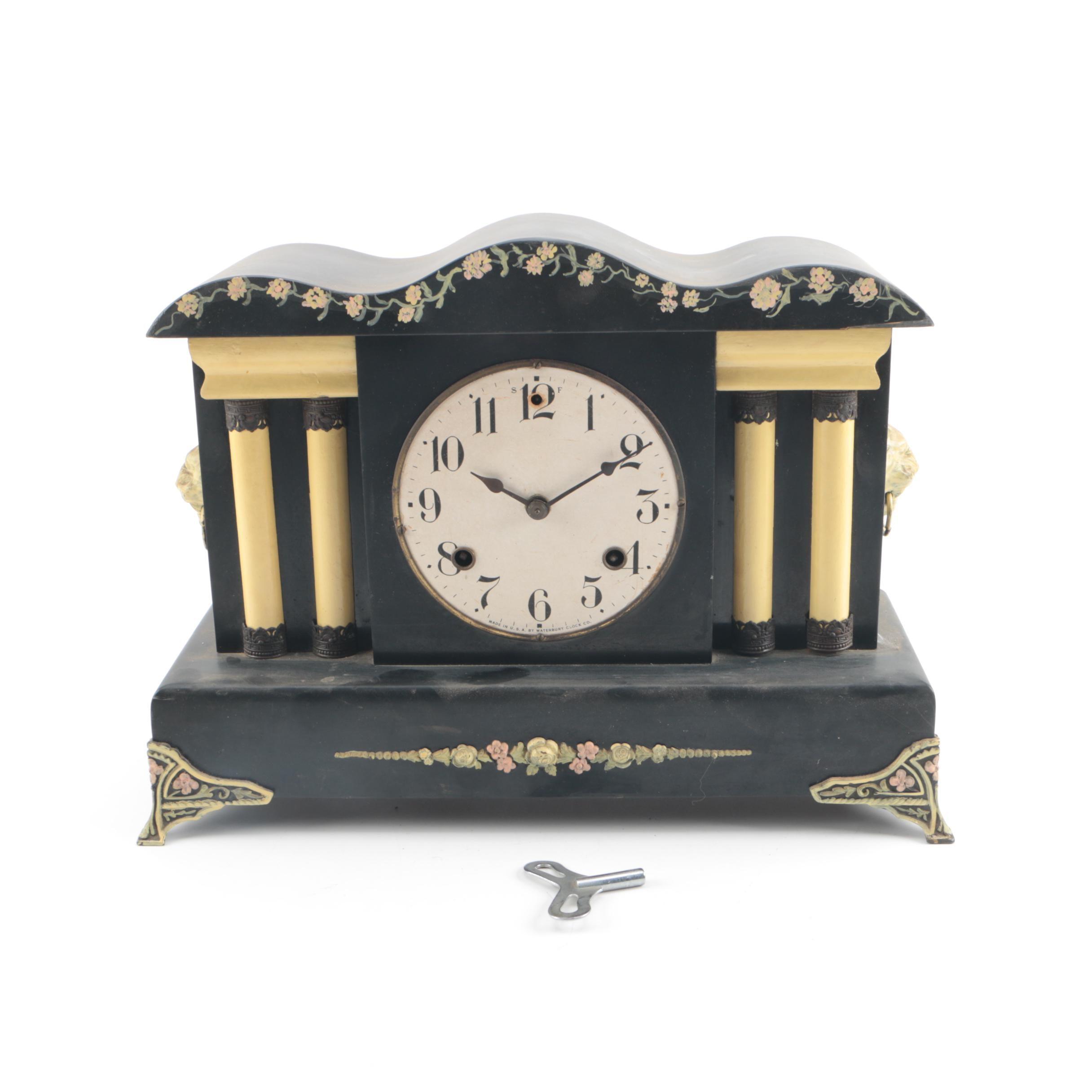 """Waterbury """"Home No. 4"""" Mantel Clock"""
