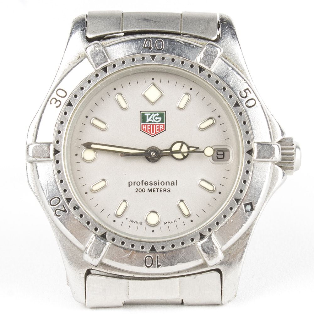 TAG Heuer Stainless Steel Professional Wristwatch