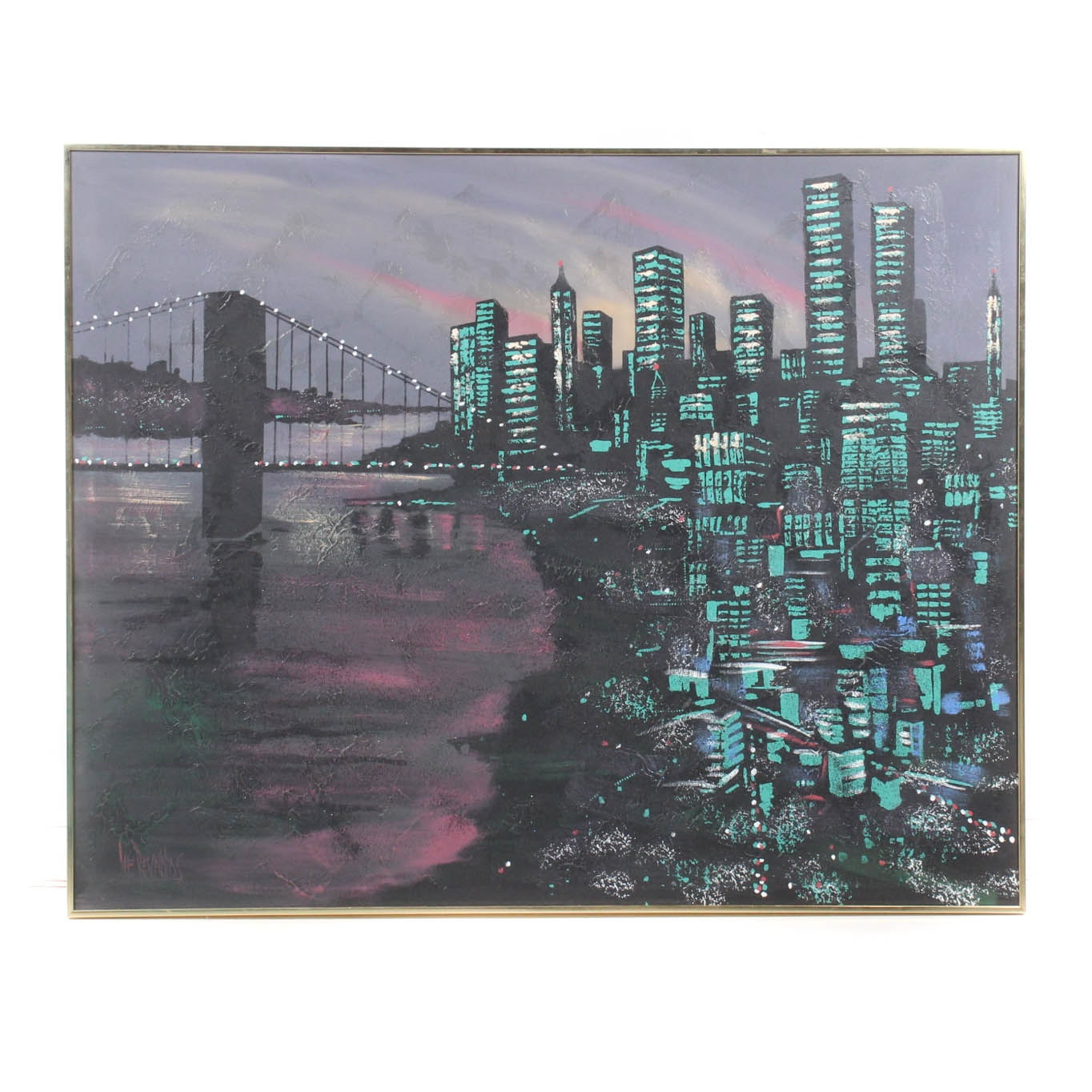 Lee Reynolds Large-Scale Cityscape Painting