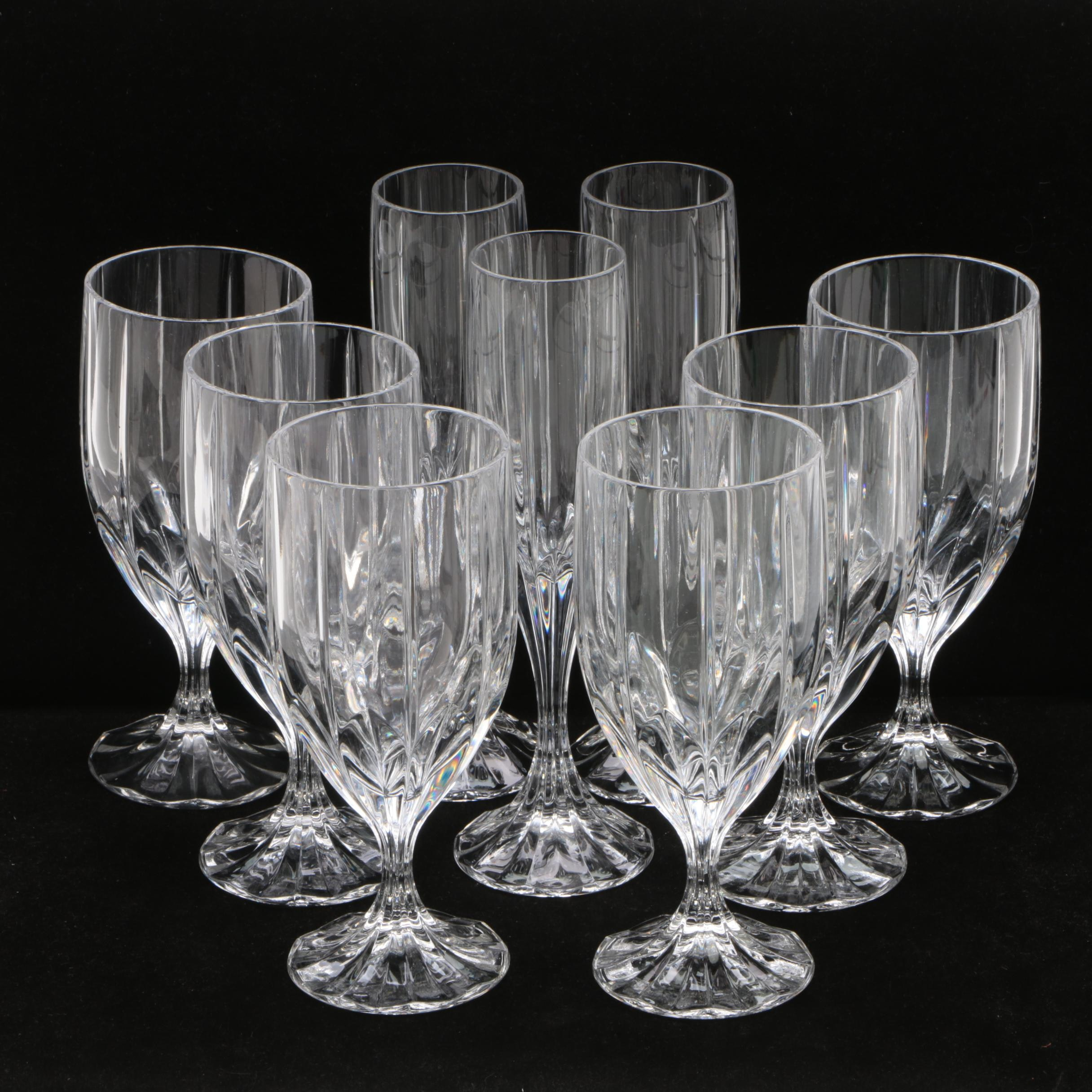 "Mikasa ""Park Lane"" Crystal Iced Beverage Glasses and Flutes"