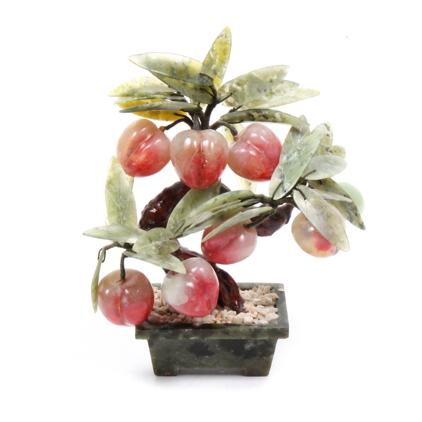 Agate Peach Tree Sculpture
