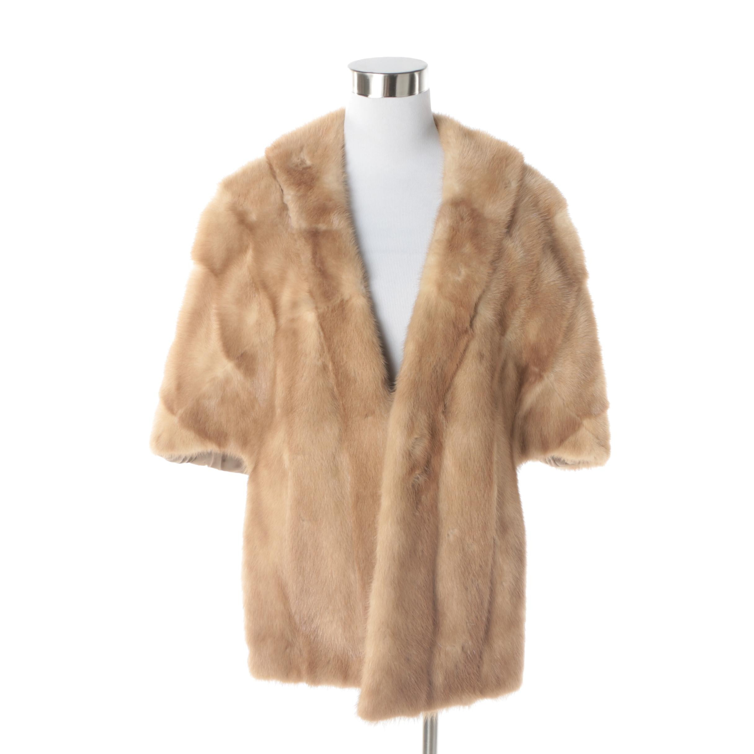 Women's Vintage Blonde Mink Fur Stole