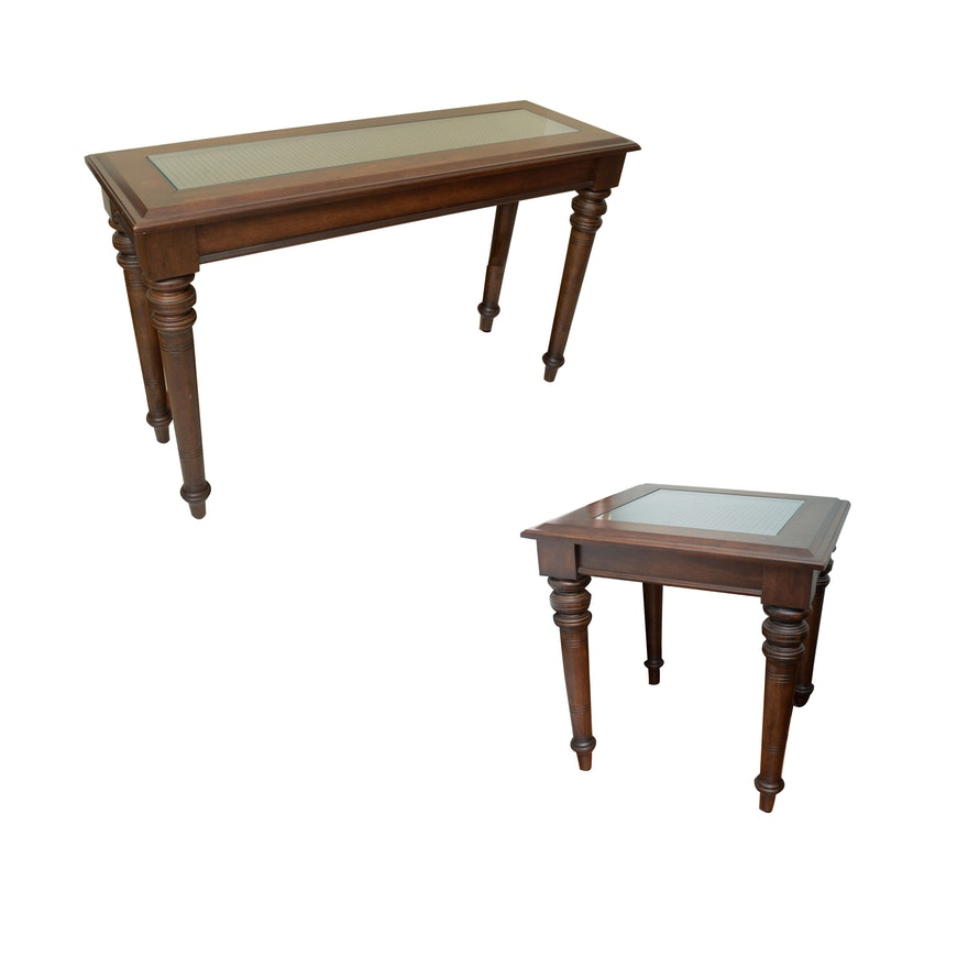 Admirable Glass Top Console Table And End Table By The Bombay Company Lamtechconsult Wood Chair Design Ideas Lamtechconsultcom