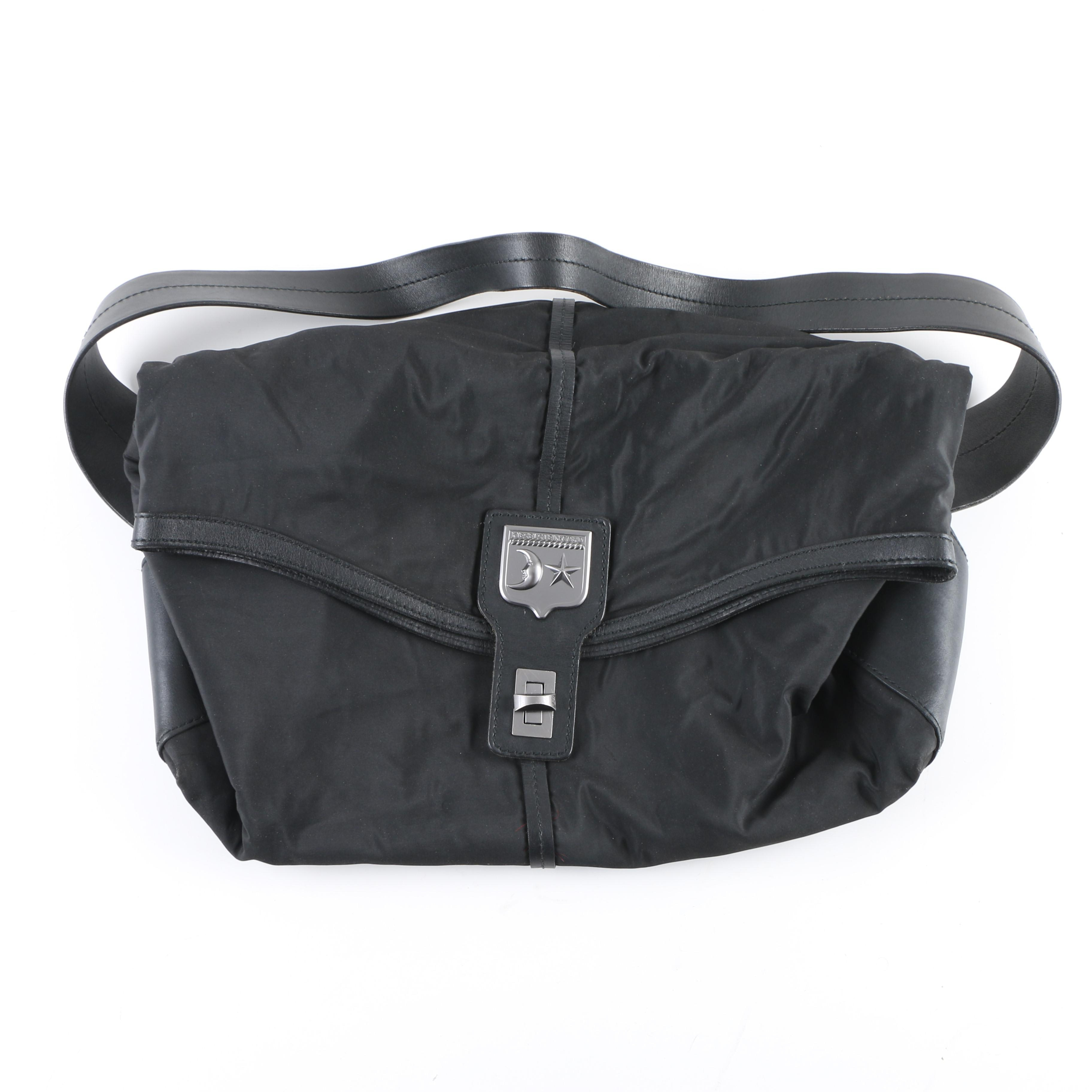Barry Kisselstein-Cord Black Nylon Messenger Bag