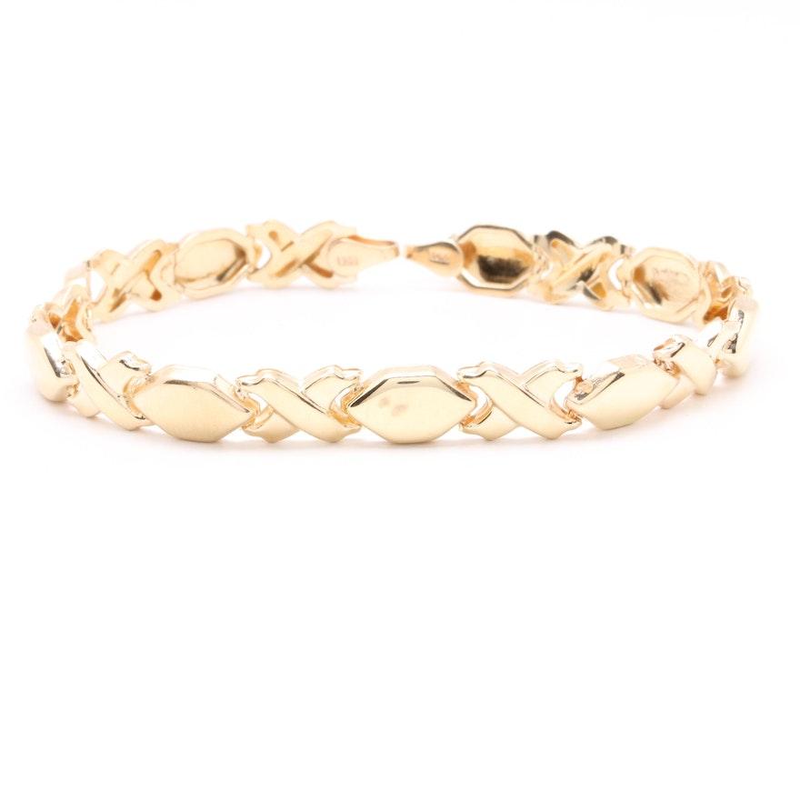 10k Yellow Gold Linked Bracelet
