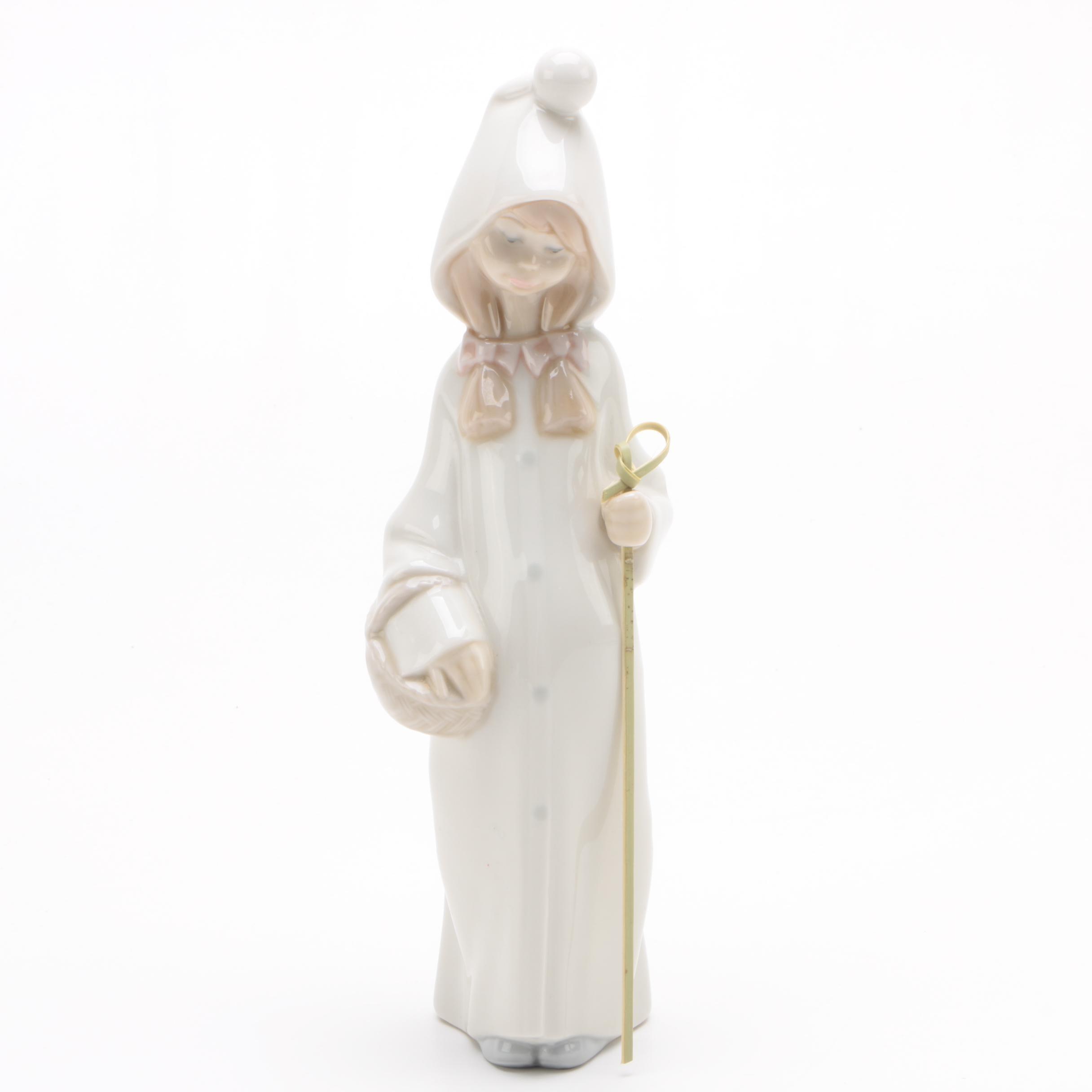"Lladró ""Shepherd Girl"" Porcelain Figurine"