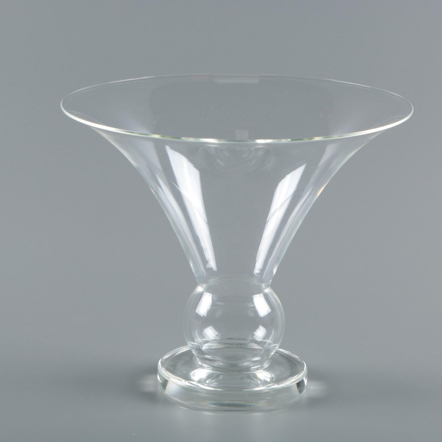 Steuben Crystal Vase Designed By Sydney Waugh Ebth