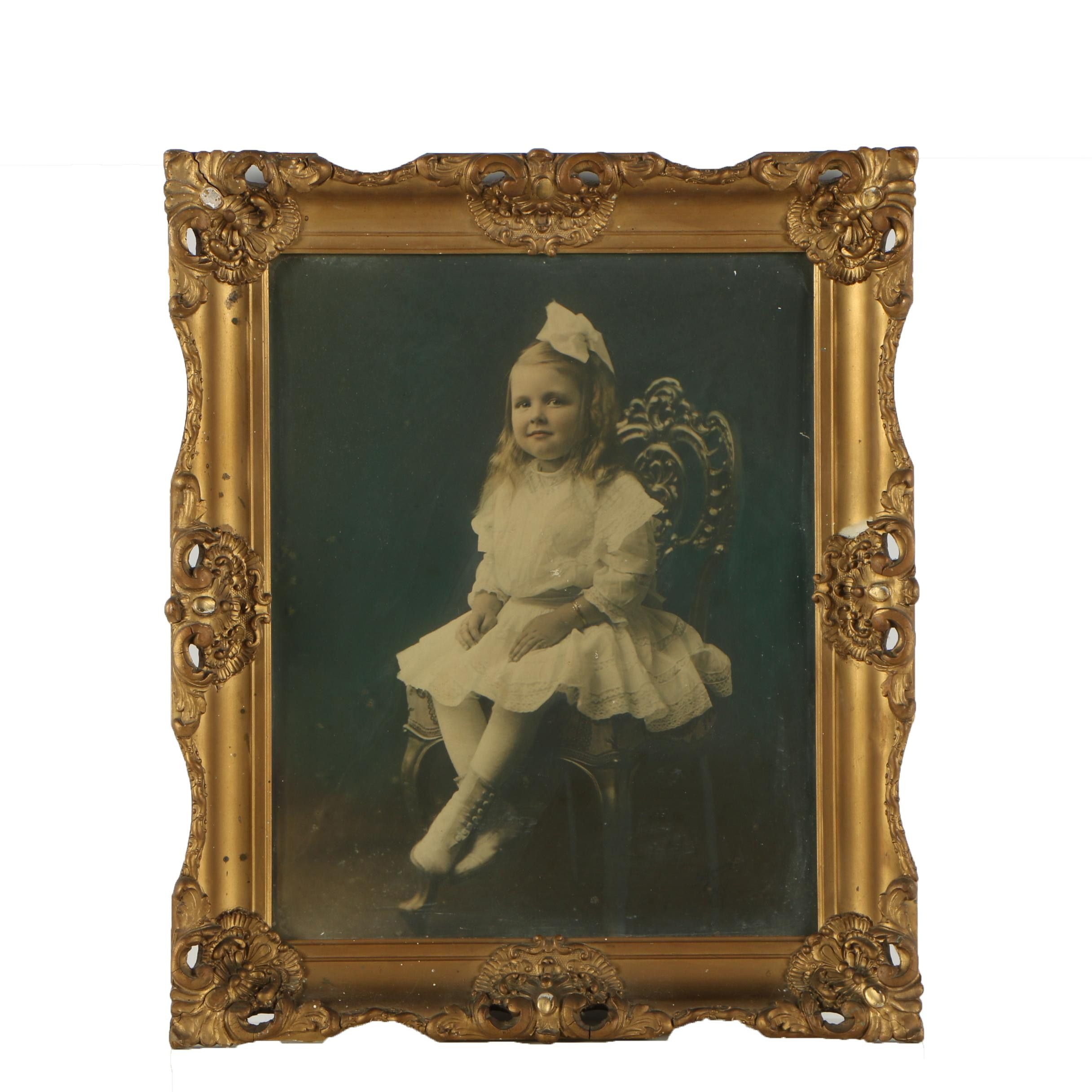De Young Studios Hand Tinted Enlargement Photograph