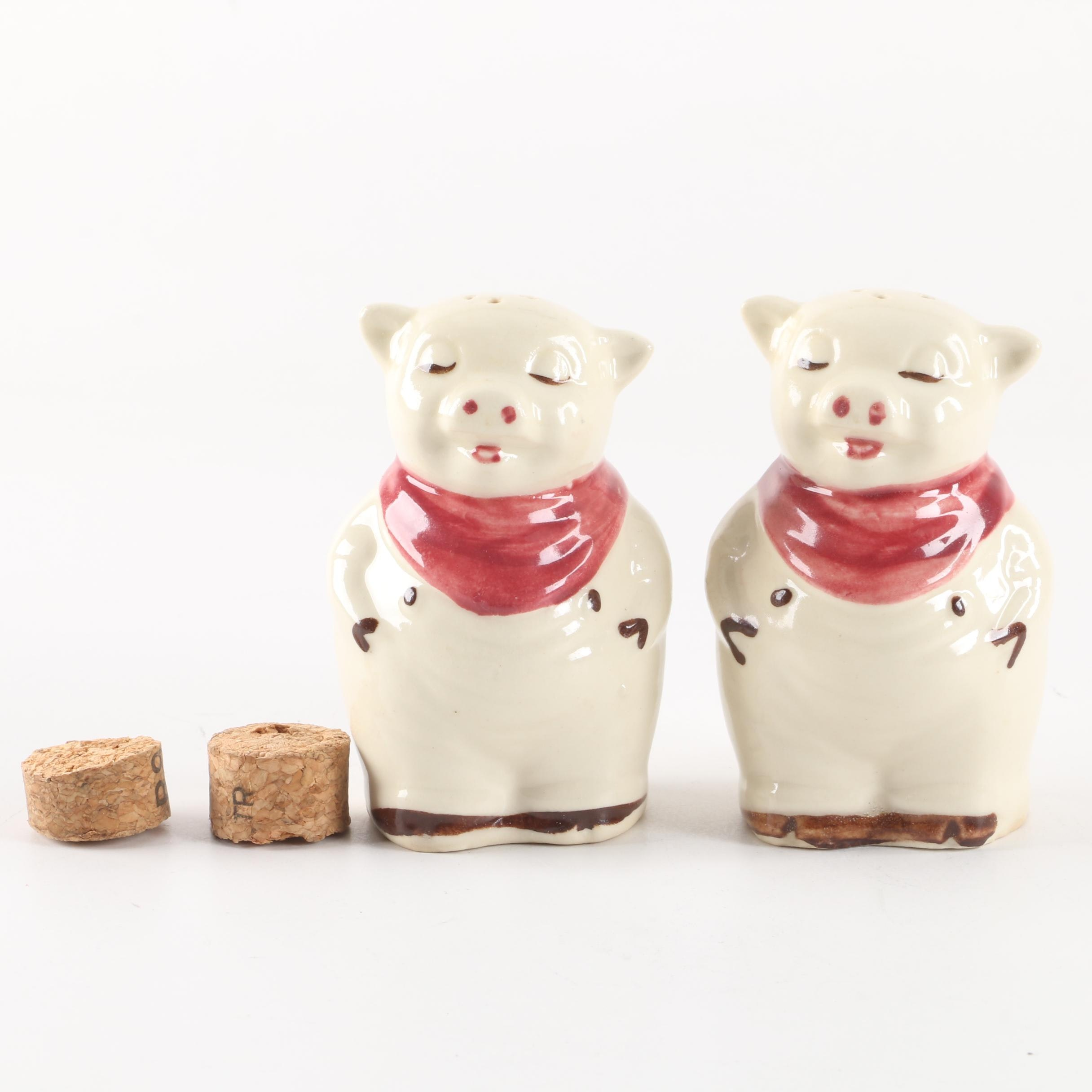 Vintage Shawnee Ceramic Pig Salt and Pepper Shakers