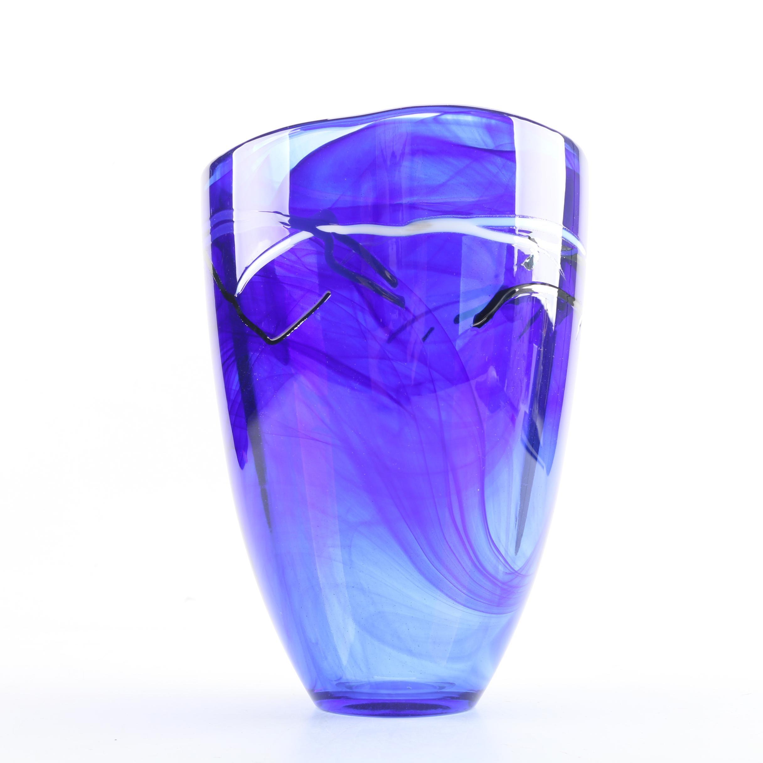 Kosta Boda Hand Blown Glass Vase by Anna Ehrner