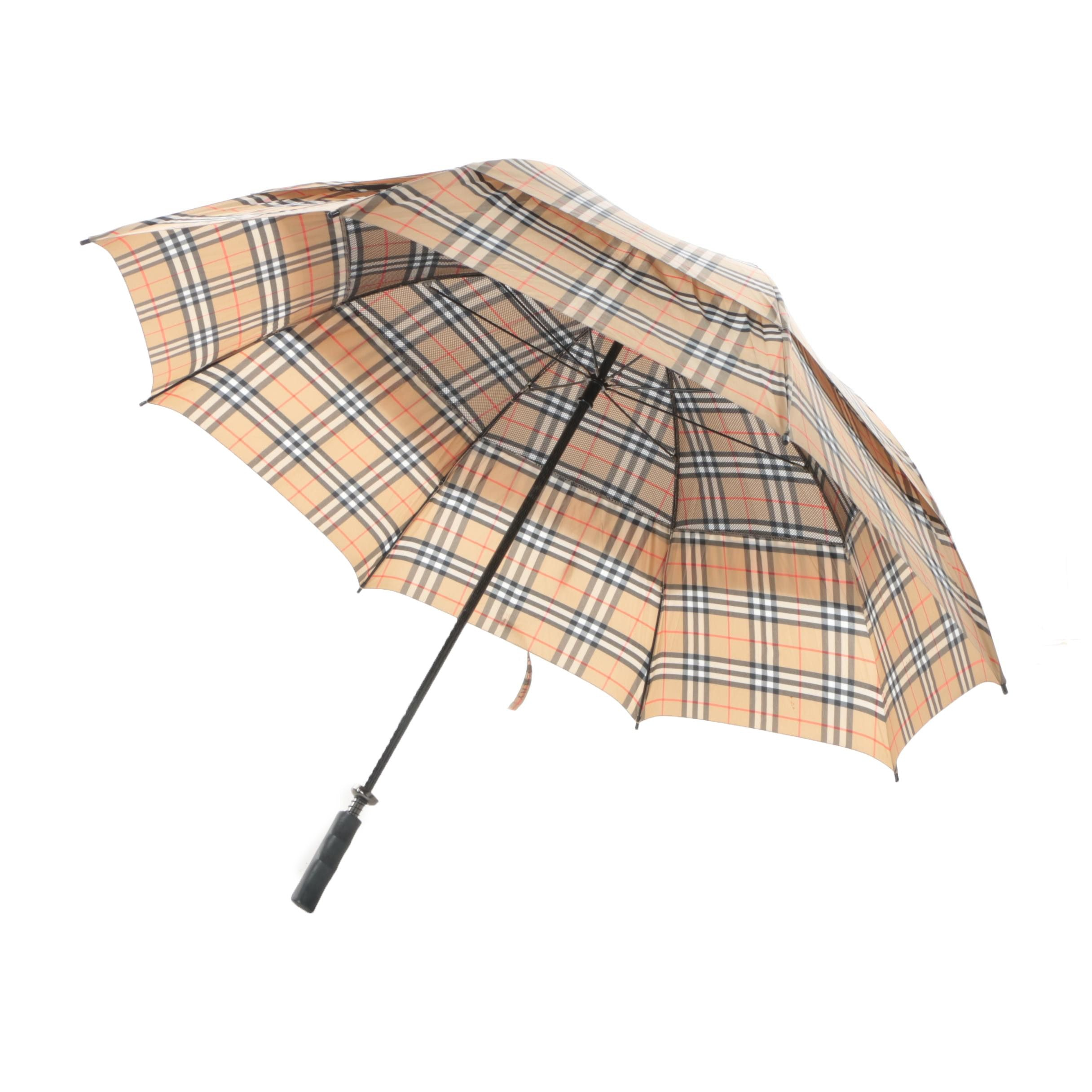 "Burberry London Haymarket Check 60"" Umbrella"