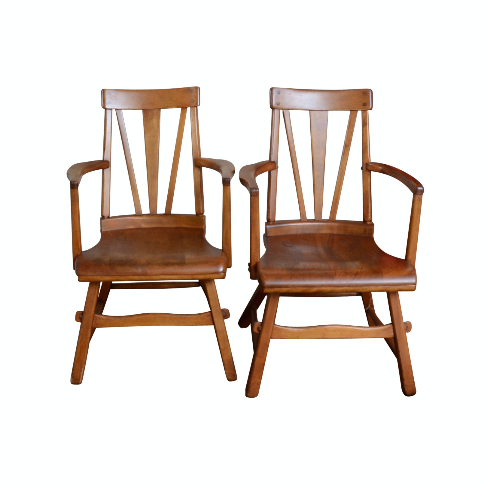 Pair of Maple Arm Chairs
