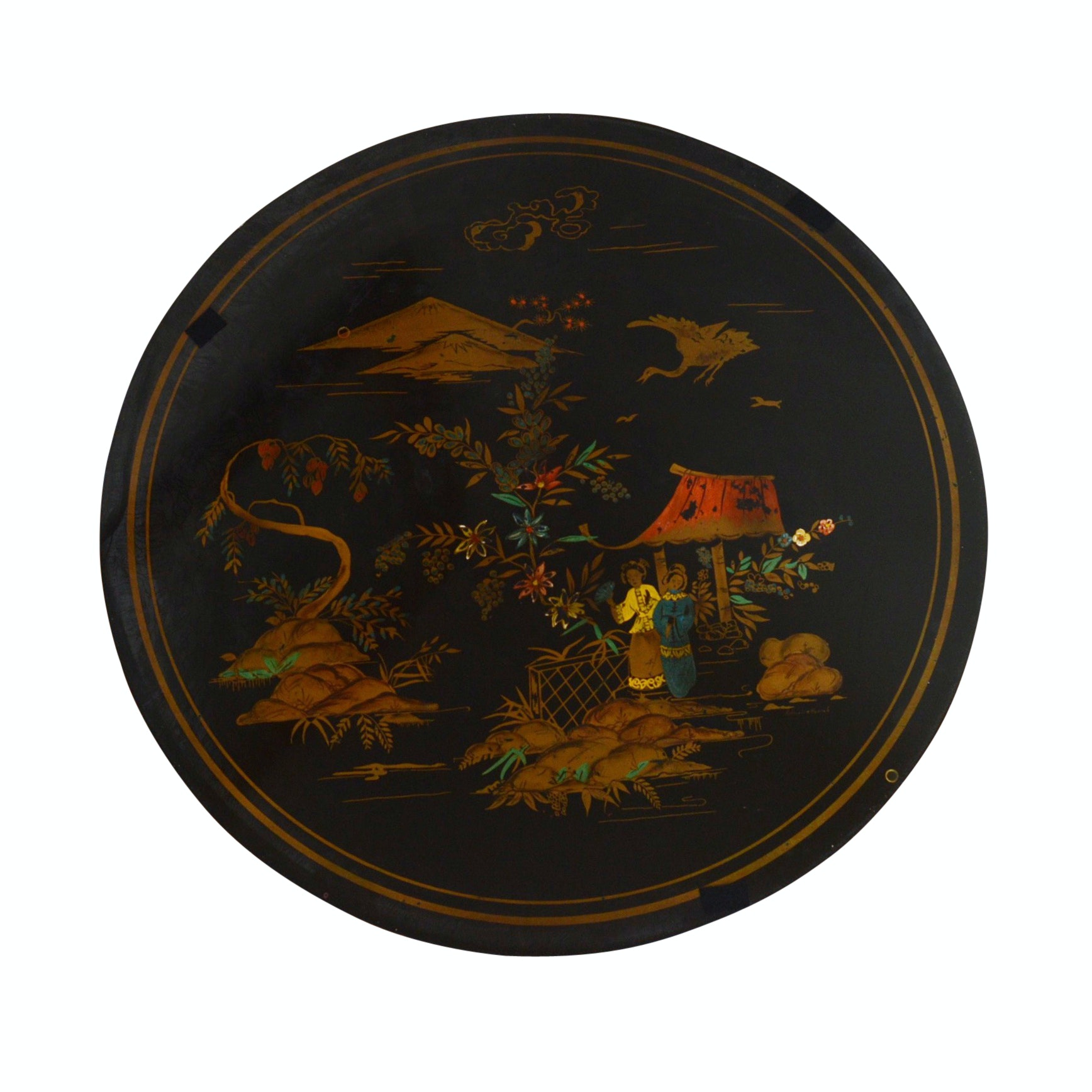 Hand Painted Asian-Inspired Cocktail Table