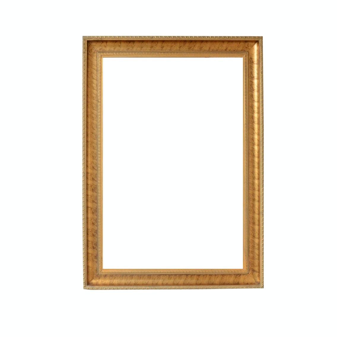 Gold-Tone Beveled Wall Mirror