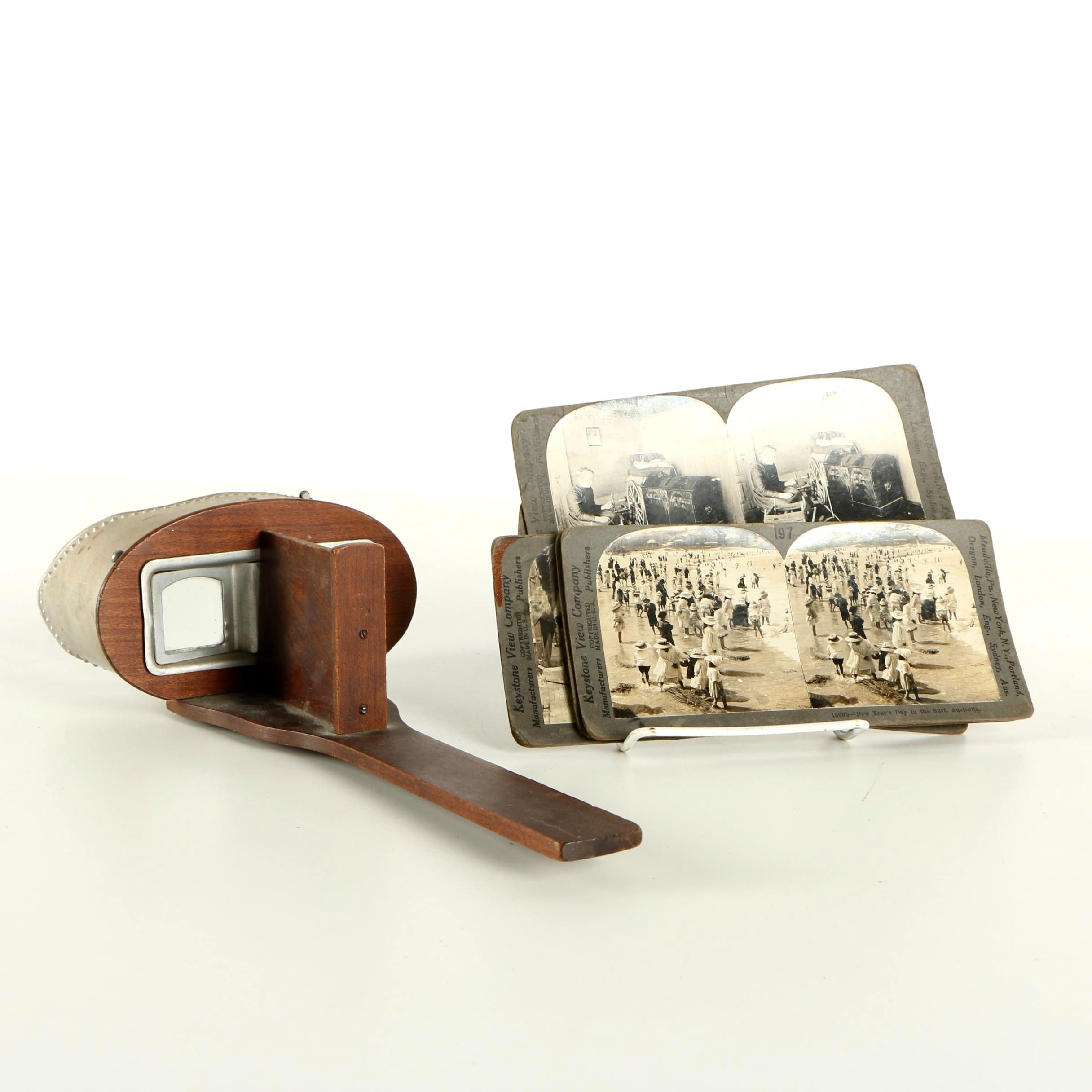 Stereoview Cards and Stereoscope Viewer