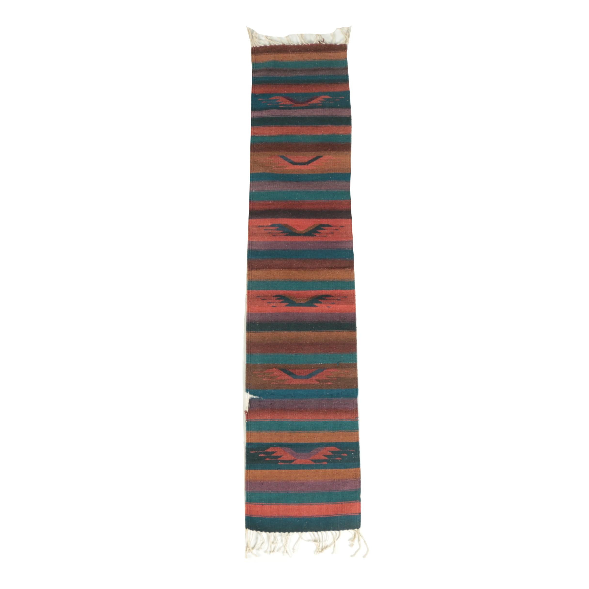 Handwoven Mexican Wool Carpet Runner by Casa Gunginn